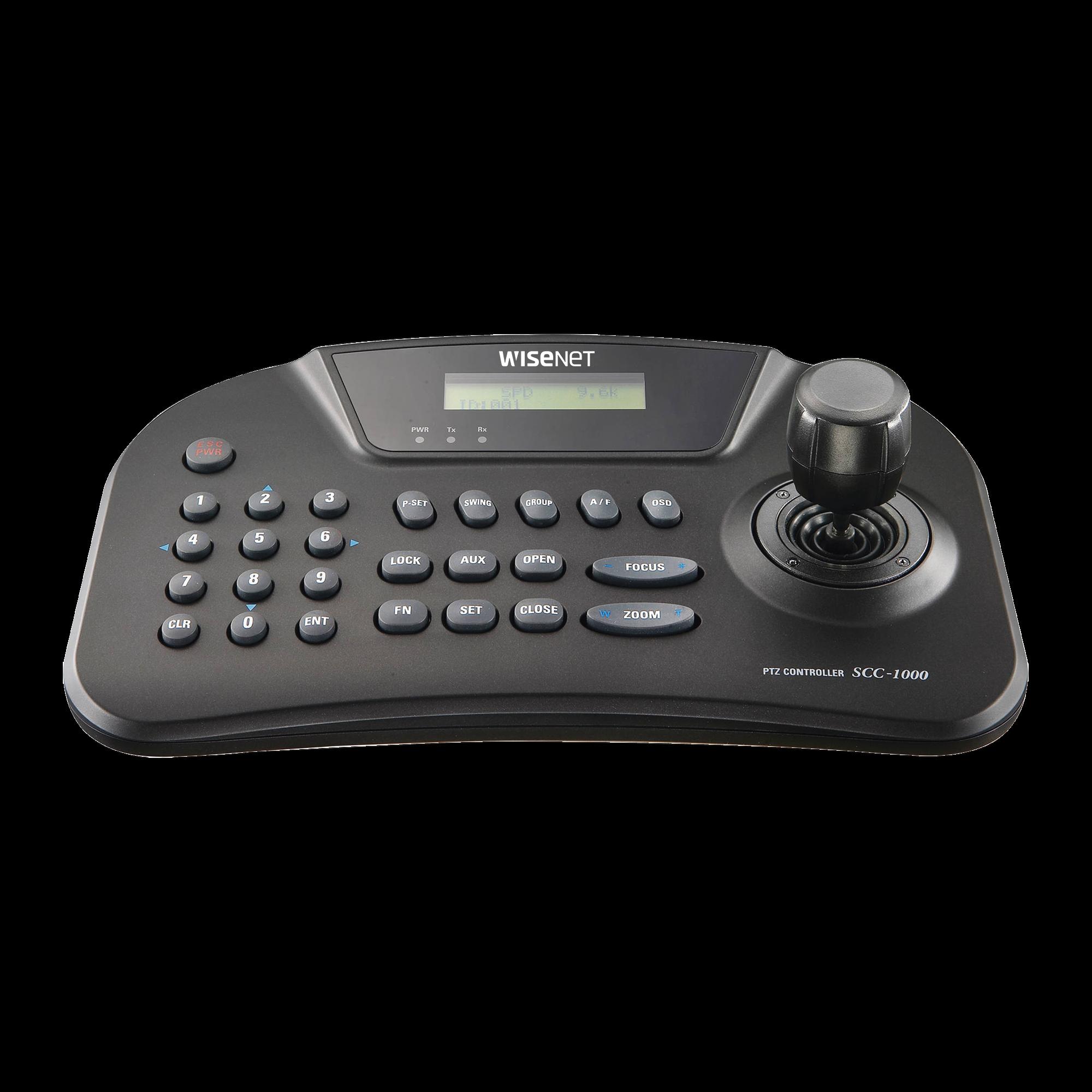 Controlador PTZ RS-485 de hasta 255 domos, joystick de 3 ejes
