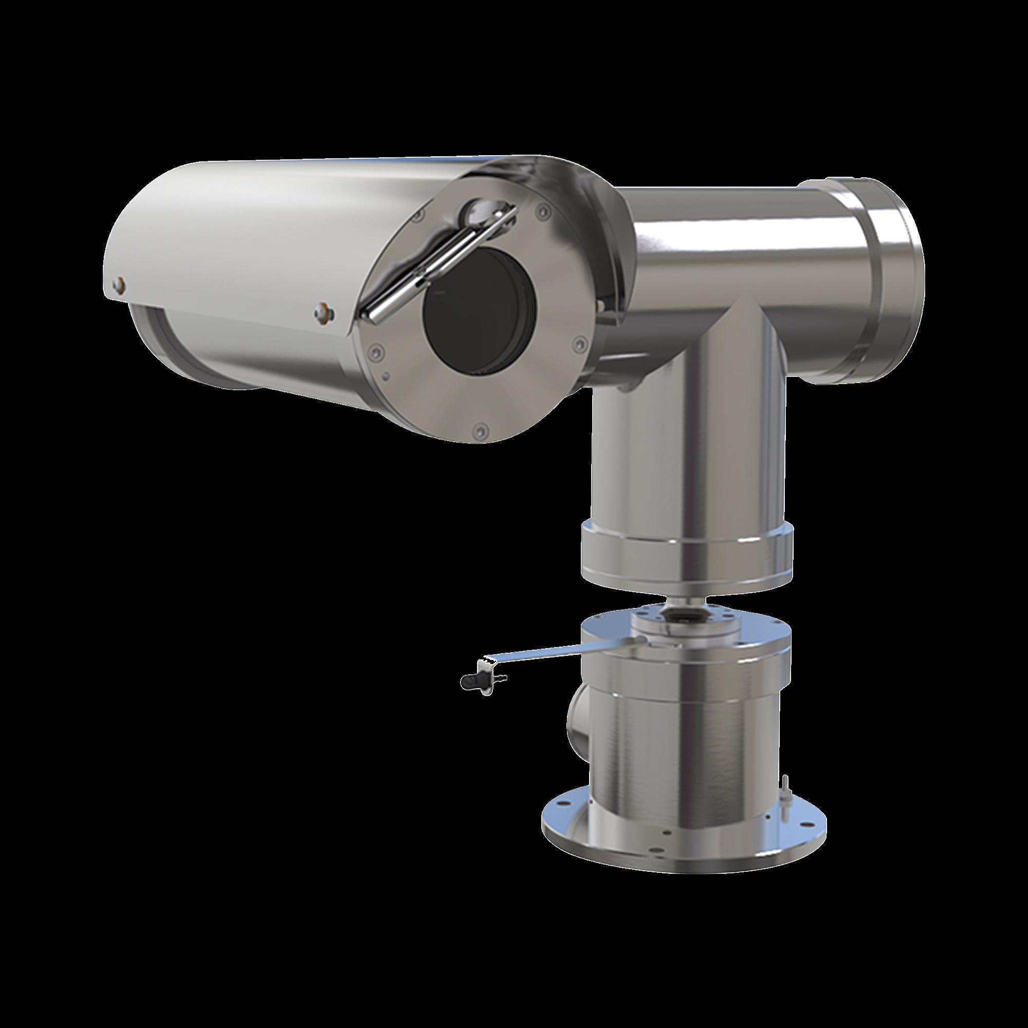 Camara IP PTZ  antiexplosion 2MP, 32X, IP68, WiseStream II / con wiper / acero inoxidable / conexión de fibra optica