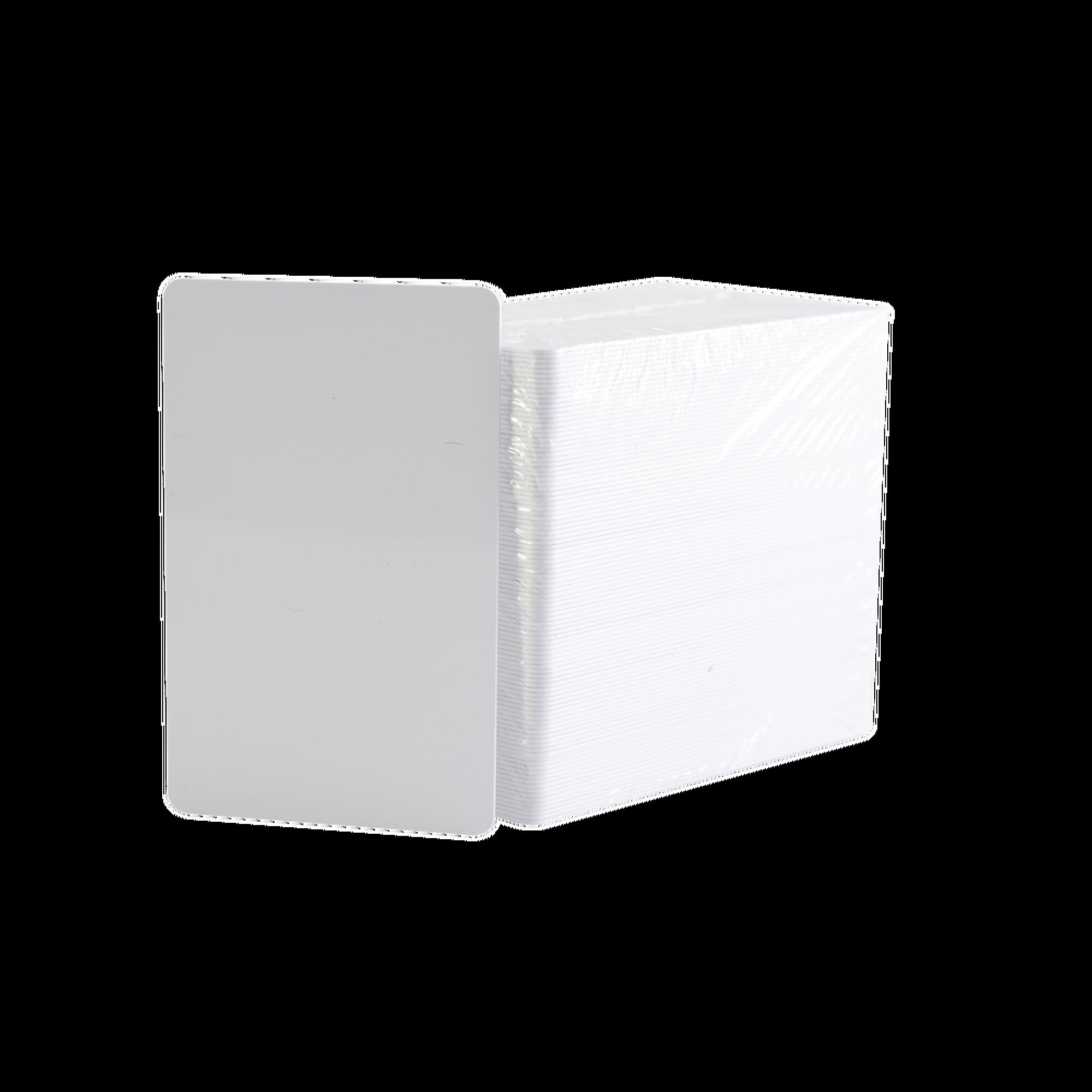 Paquete de 500 tarjetas de PVC UltraCard 30 mil CR80/ Diseñadas para impresion/ Sin Tecnologia