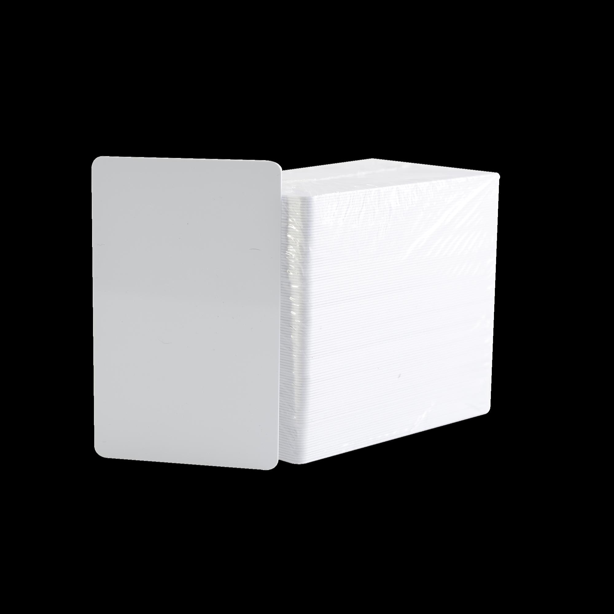 Paquete de 500 Tarjetas UltraCard 10 milesimas Grosor/ Adhesivas/ Imprimibles por un solo lado / Para pegar sobre tarjetas/ CR80