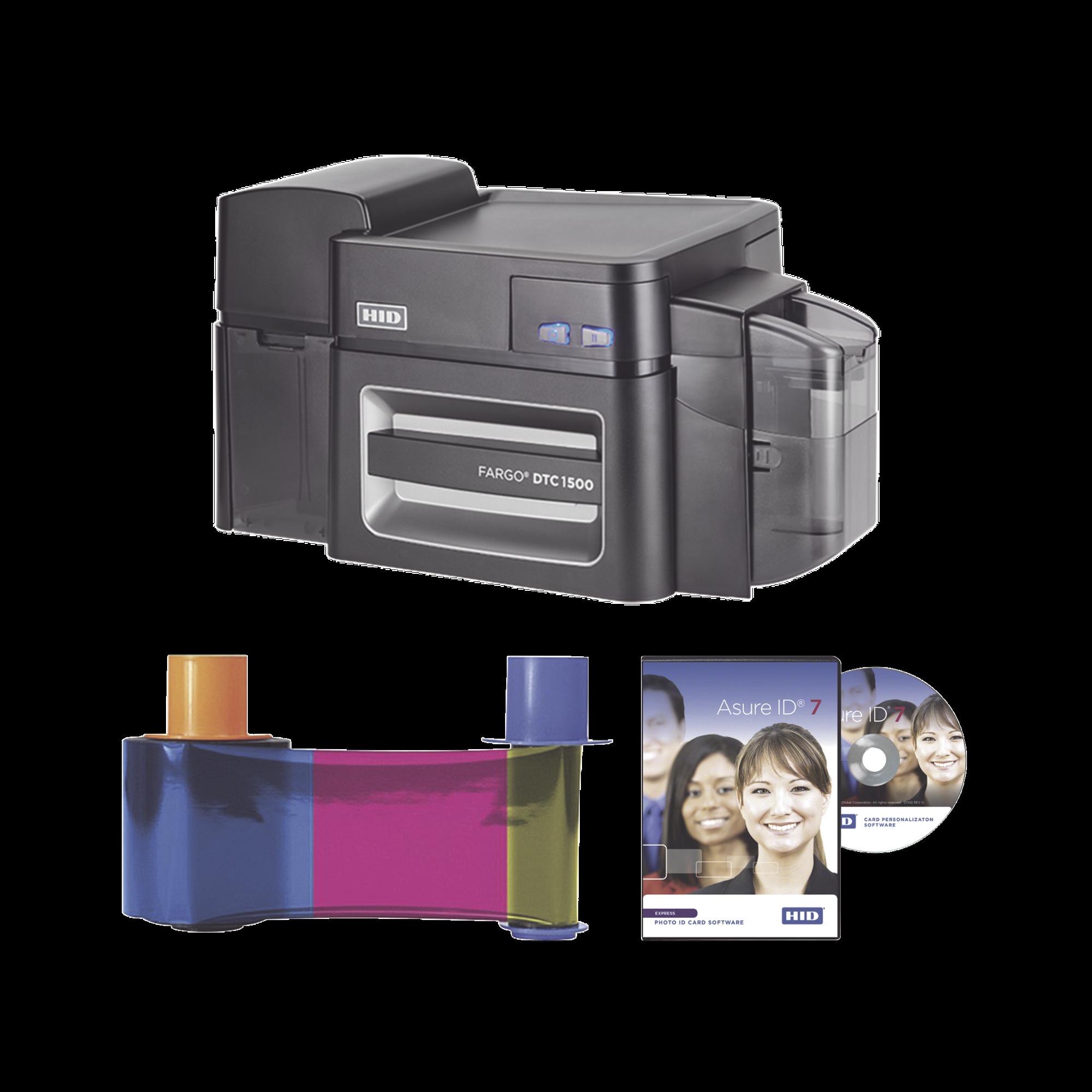 Kit de Impresora Profesional de Doble Cara DTC1500/ Borrado información/ Marca de Agua/ Incluye Ribbon y Software