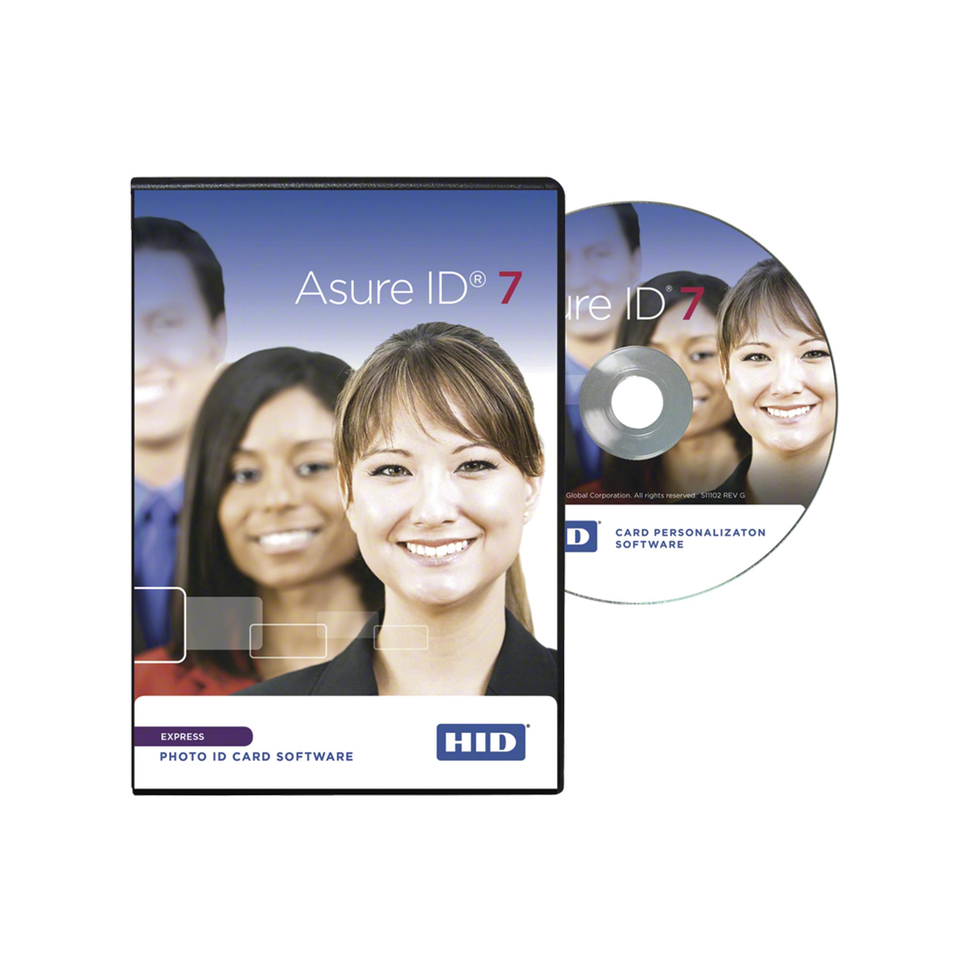 Software Asure ID versión EXPRESS / Compatible con impresoras HID / Personalización de credenciales
