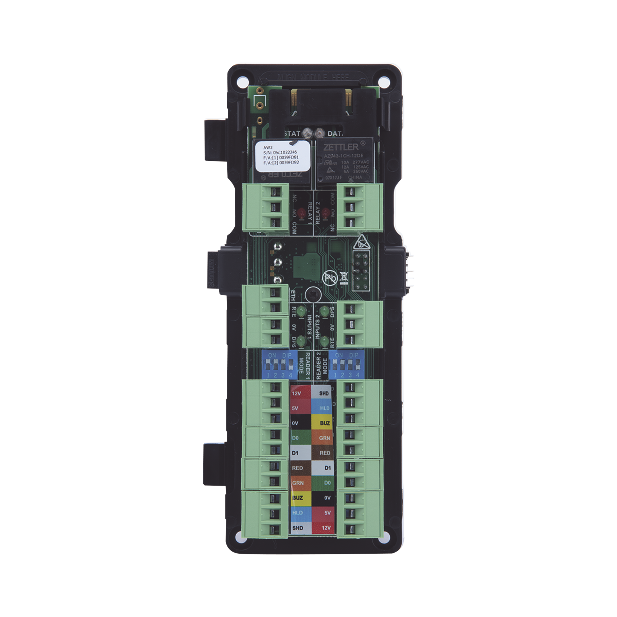 Modulo Expansor de 2 lectoras para Panel HID ACW2-XN