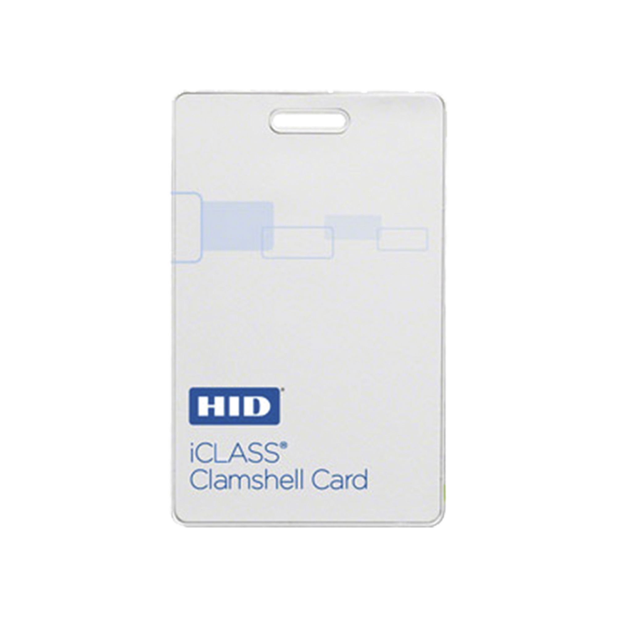 Tarjeta iClass Clamshell (Gruesa) / 2 k memoria / Programada  a 26 bits Aleatoriamente/ Garantía de por Vida