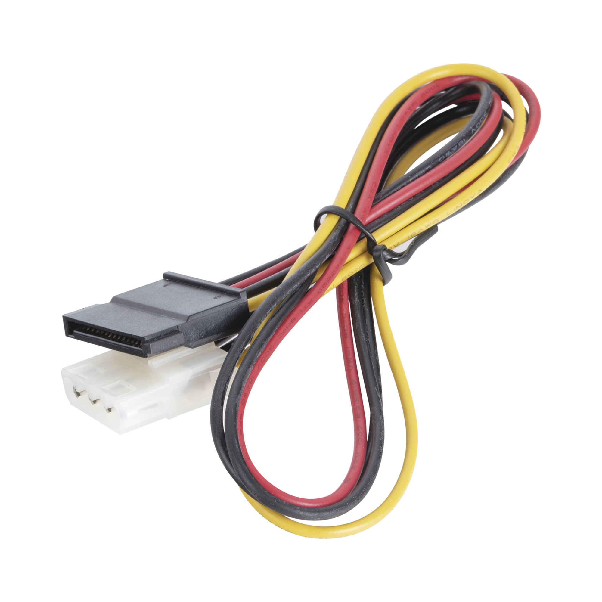 Cable de Corriente Simple Sata HI 4Sata  /F,0.4m para DVR HIKVISION