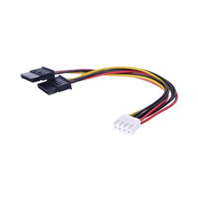 Cable Doble de Corriente SATA / Compatible con DVR´s epcom y HIKVISION / 15 cm de Longitud