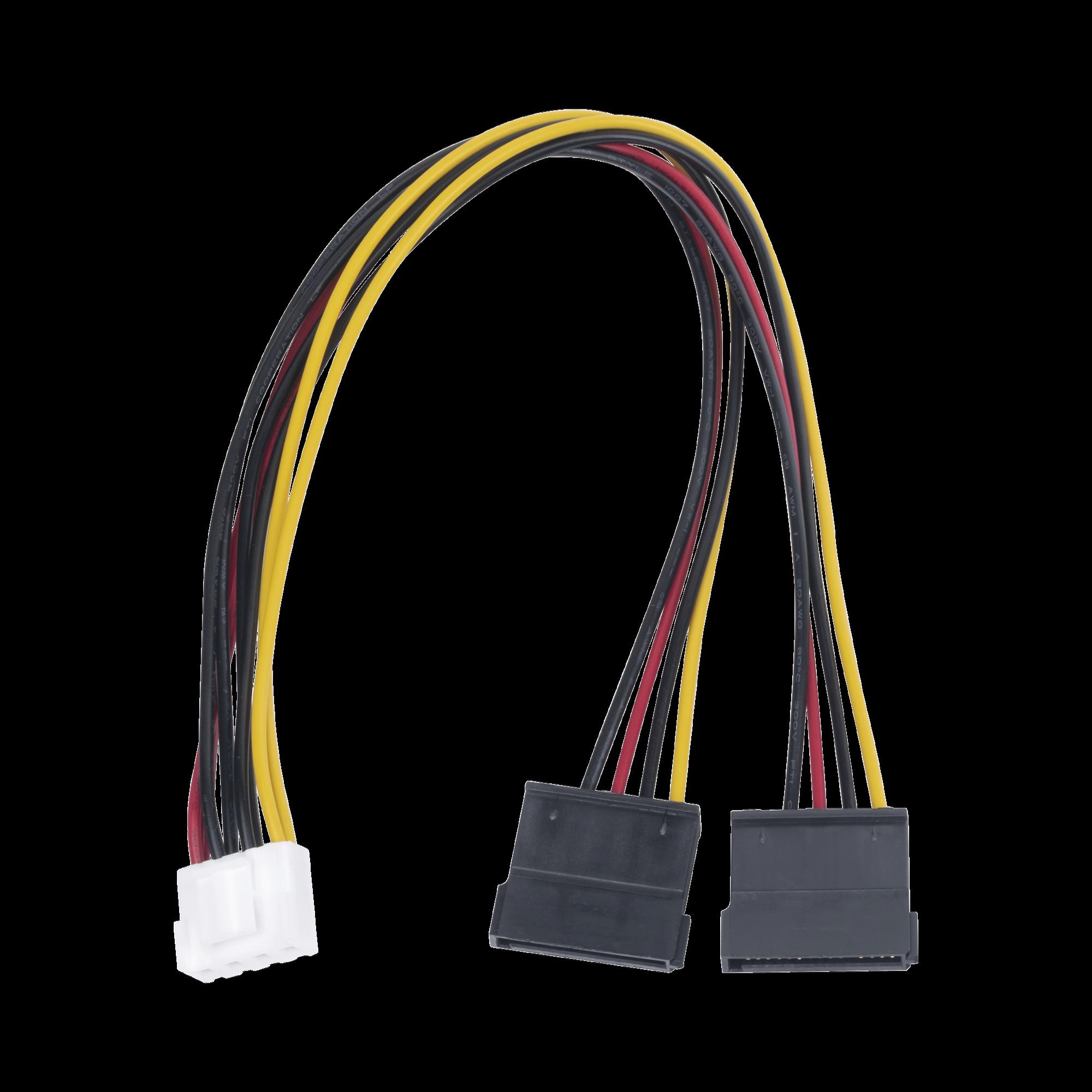 Cable Doble de Corriente SATA / Compatible con DVRs epcom / HIKVISION