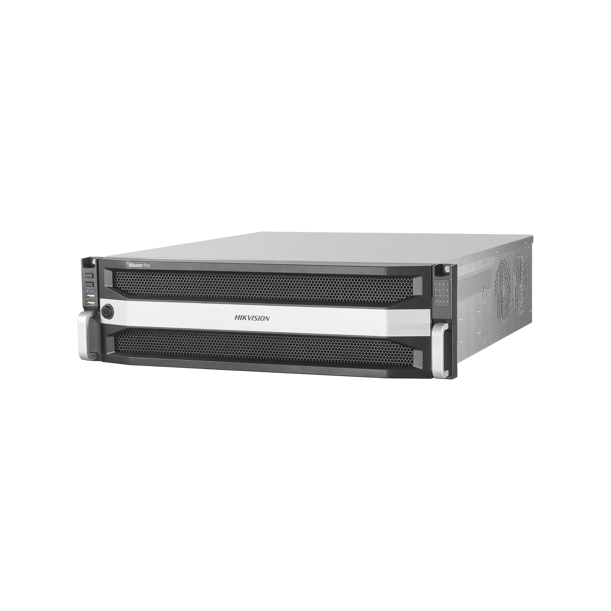 Servidor Todo en Uno / NVR de 128 canales IP / Version 2.0 / HIK-CENTRAL / Windows 10 / 16 Bahias de Disco Duro