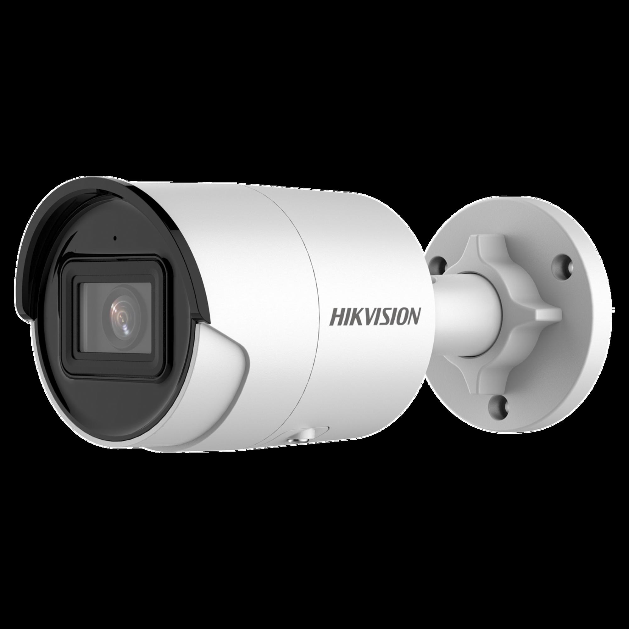 Bala IP 2 Megapixel / Lente 2.8 mm / 40 mts IR EXIR /Exterior IP67 / WDR 120 dB / PoE / Micrófono Integrado / Videoanaliticos (Filtro de Falsas Alarmas) / Ultra Baja Iluminación