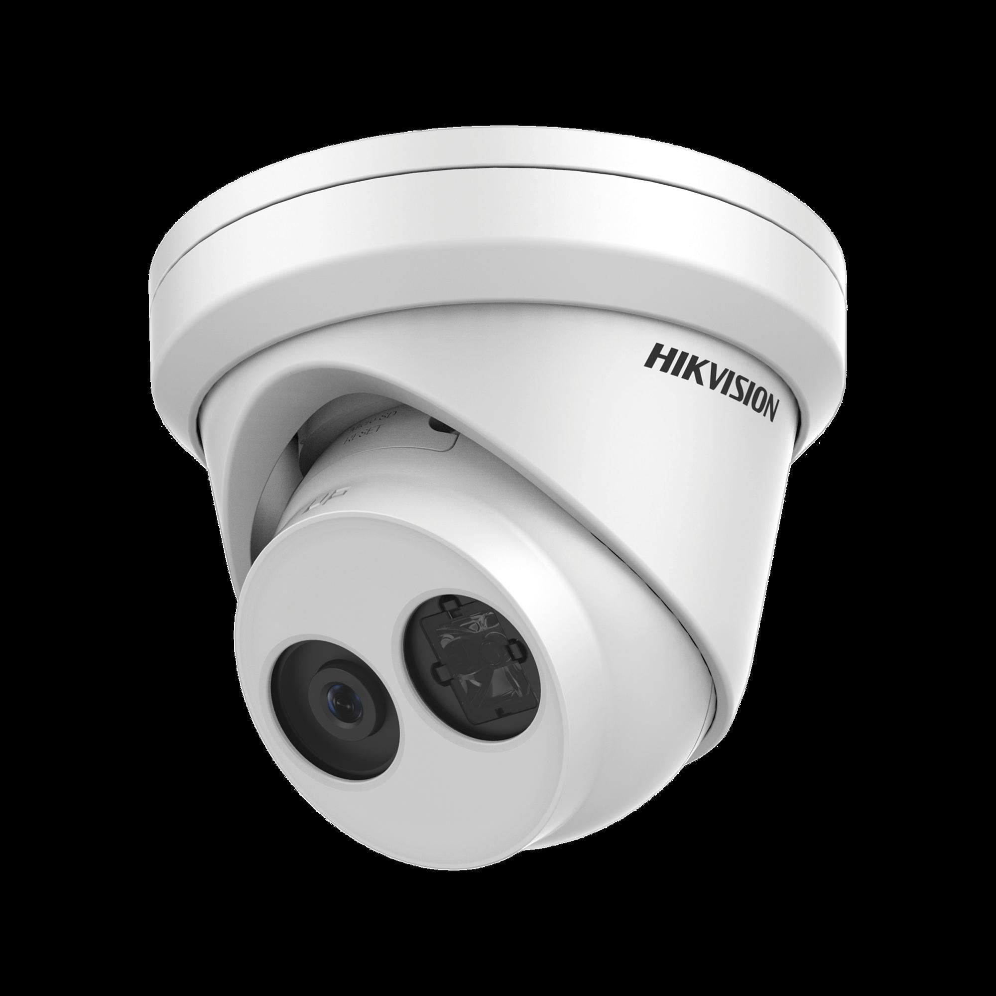 Turret IP 4 Megapixel / Serie PRO /  30 mts IR EXIR / Exterior IP66 / WDR 120 dB / PoE / Lente 2.8 mm / Videoanaliticos Integrados / Micrófono Integrado
