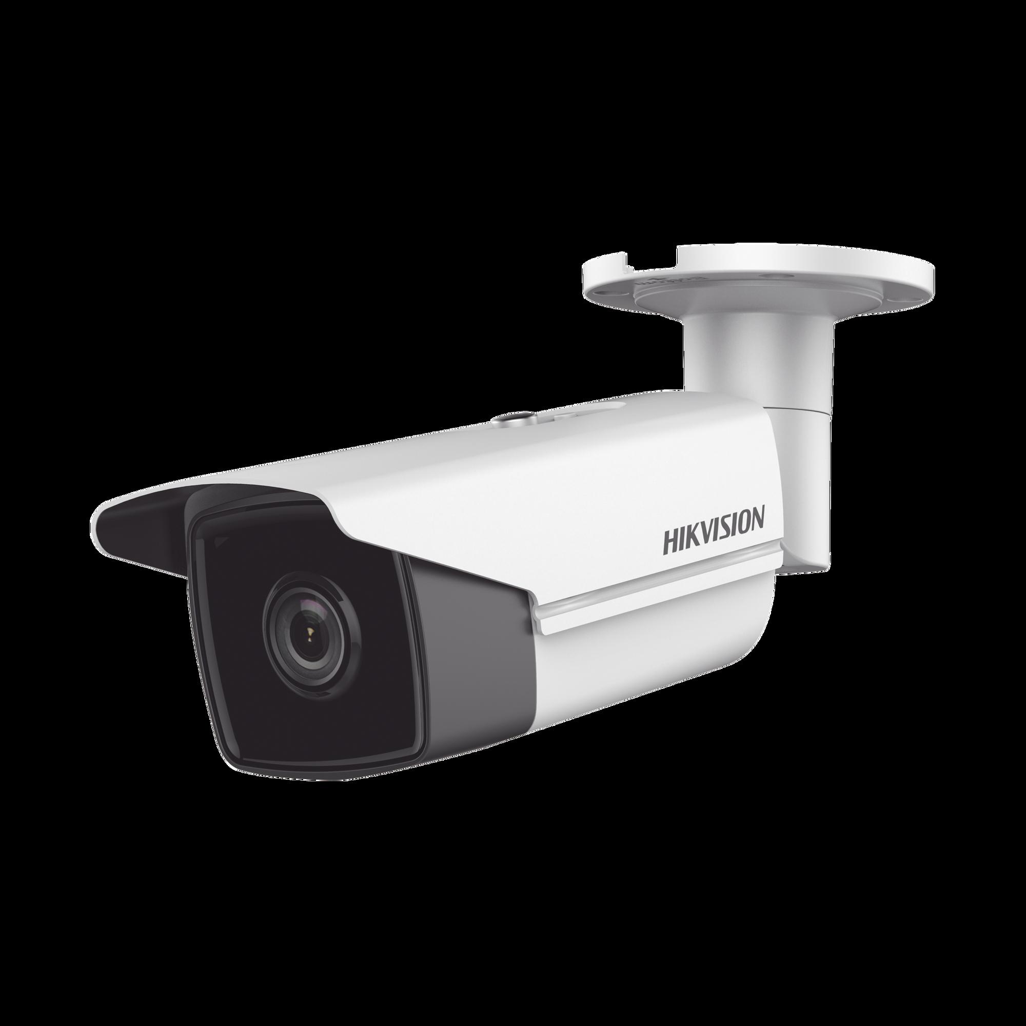 Bala IP 4 Megapixel / Lente 4 mm / 80 mts IR EXIR / IP67 / WDR 120 dB / PoE / Videoanaliticos (Filtro de Falsas Alarmas) / Ultra Baja Iluminación