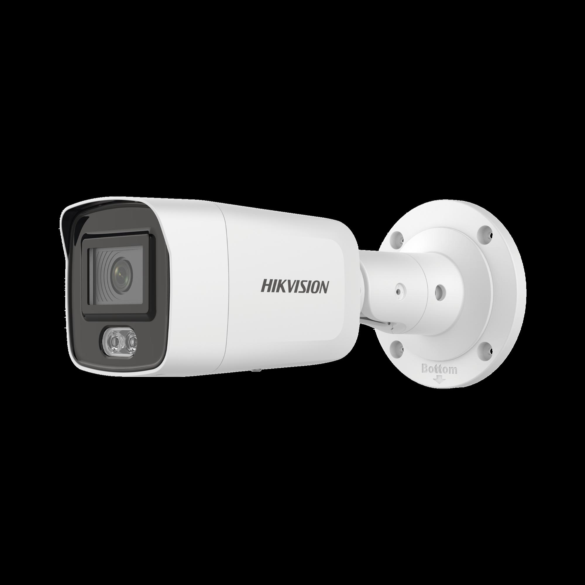 Bala IP 4 Megapixel / Imagen a color 24/7 / Lente 4 mm / Luz Blanca 40 mts / Exterior IP67 / WDR 120 dB / Audio y Alarma / Captura Facial
