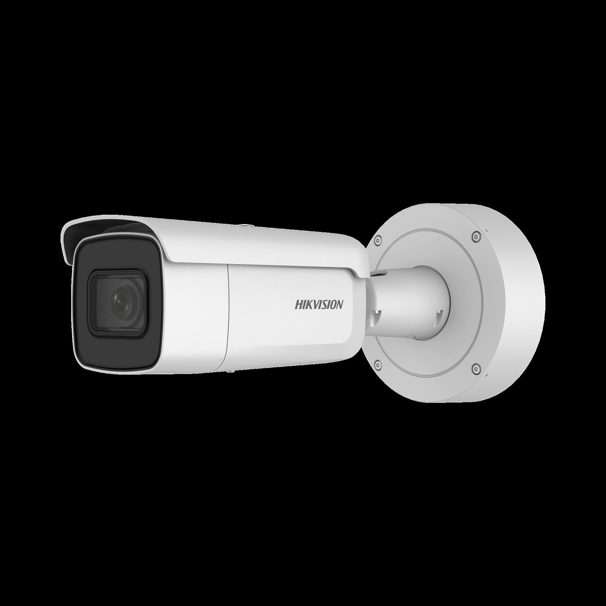 Bala IP 2 Megapixel / 60 mts IR EXIR / Lente Mot. 2.7 a 13.5 mm / Ultra Baja Iluminación / IP67 / IK10 / Videoanaliticos Integrados / WDR 120 dB / PoE+ / Audio y Alarmas