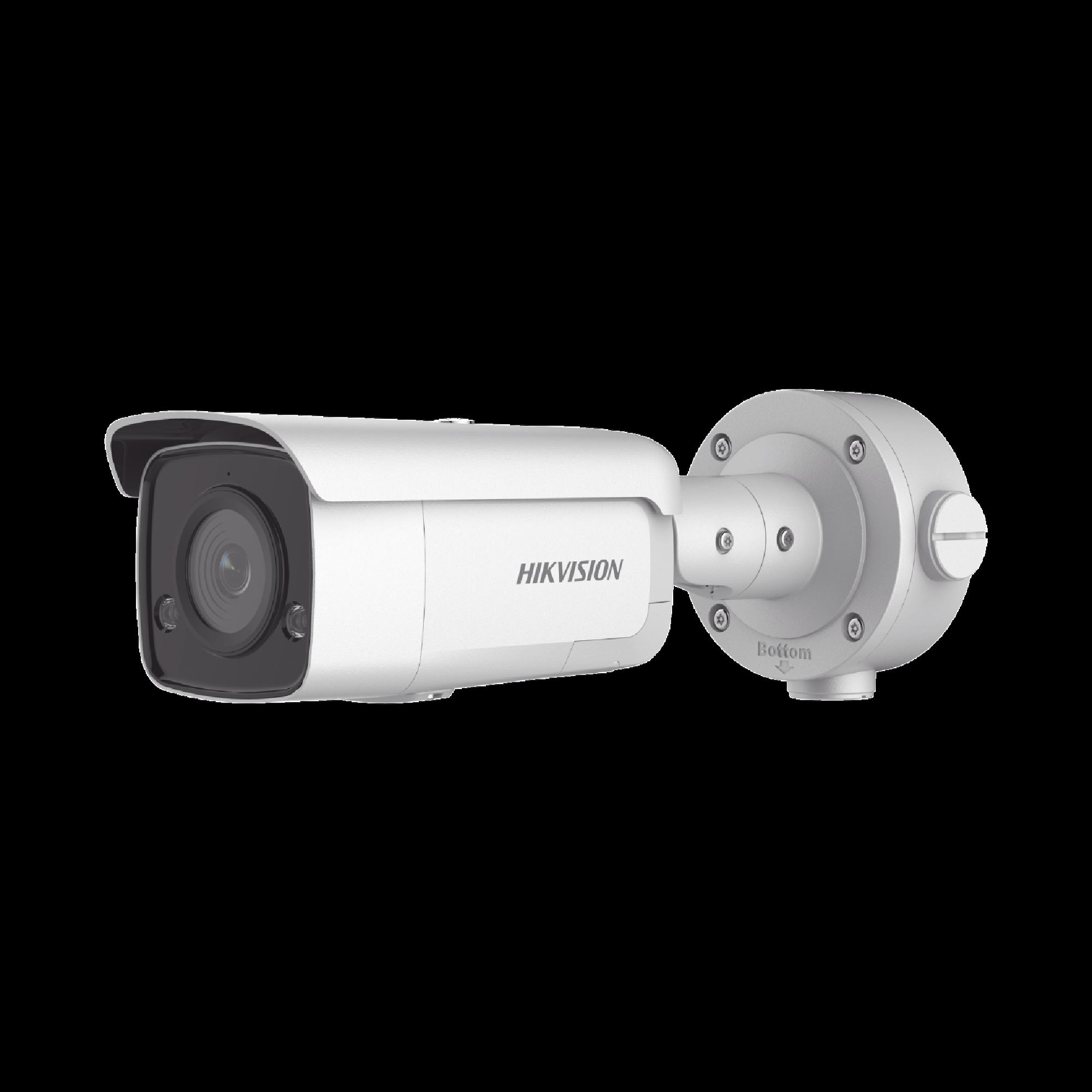 Bala IP 5 Megapixel / Lente 2.8 mm / 60 mts IR EXIR / Exterior IP66  / WDR 120 dB / PoE + / Micrófono y Bocina Integrada / Videoanaliticos Integrados (Evita Falsas Alarmas)