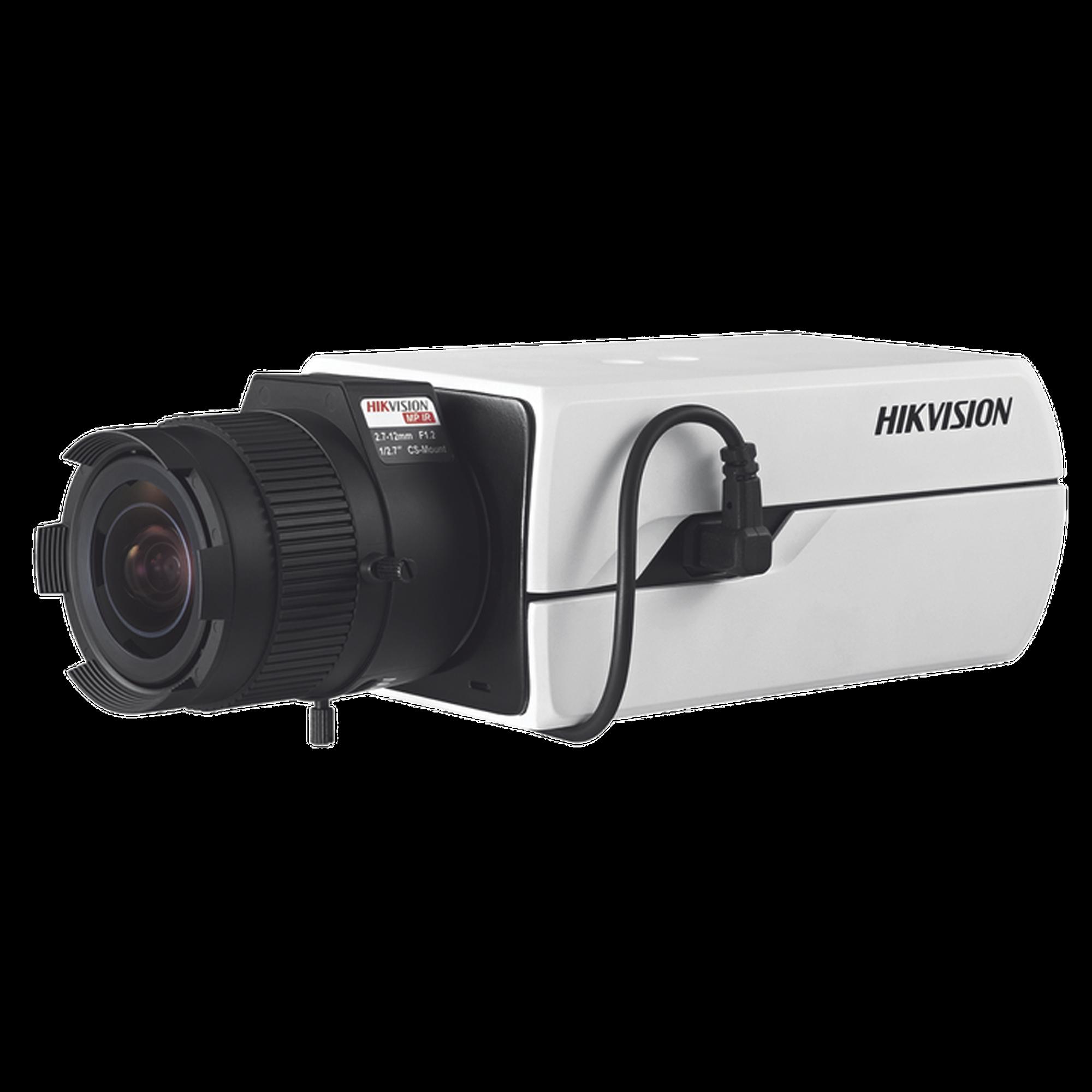 Cámara Tipó caja 3 Megapxel / Ultra Baja Iluminación / Detección Rostro / Conteo Objetos / WDR 120 dB / PoE / Defog / EIS