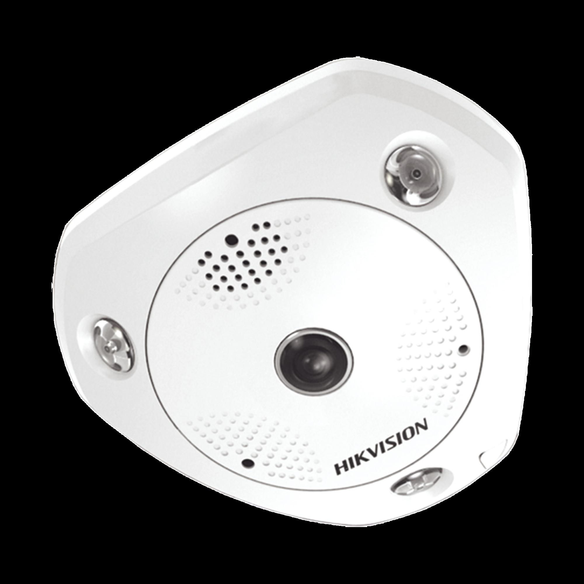 Fisheye IP 3 Megapixel / 180? / 360? / DEWARPING / WDR / 15 mts IR  / PTZ Digital / Heat Map / Entrada-Salida audio y alarma / Múltiples vistas / IP66 / IK10 / PoE