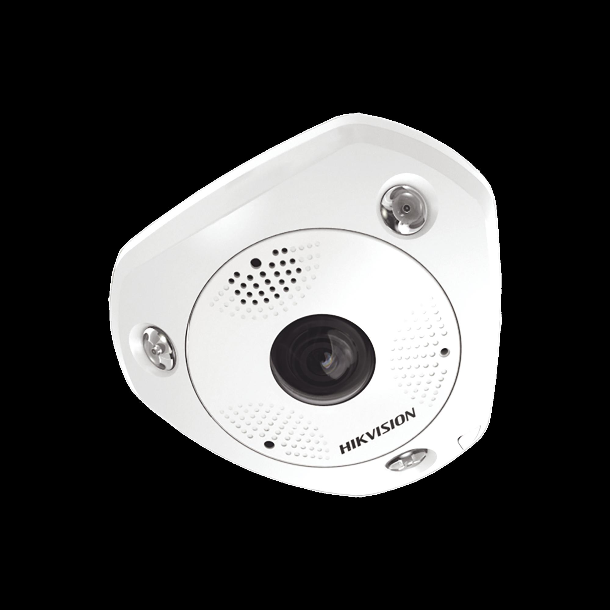 Fisheye IP 6 Megapixel / 180? - 360? / DEWARPING / WDR 120 dB / Exterior IP67 / IK08 / 15 mts IR / Entrada y Salida de Audio y Alarma / Múltiples Vistas