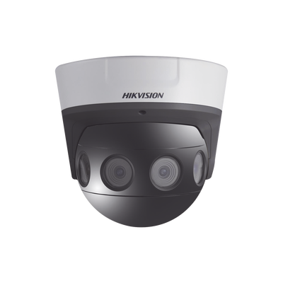 PanoVu Series / Vista Panorámica 180° / 8 Megapixel en Total / 4 Lentes 2.8 mm (2 Megapixel) / 20 mts IR EXIR / Exterior IP67 / IK10 / 12 VCD / PoE+