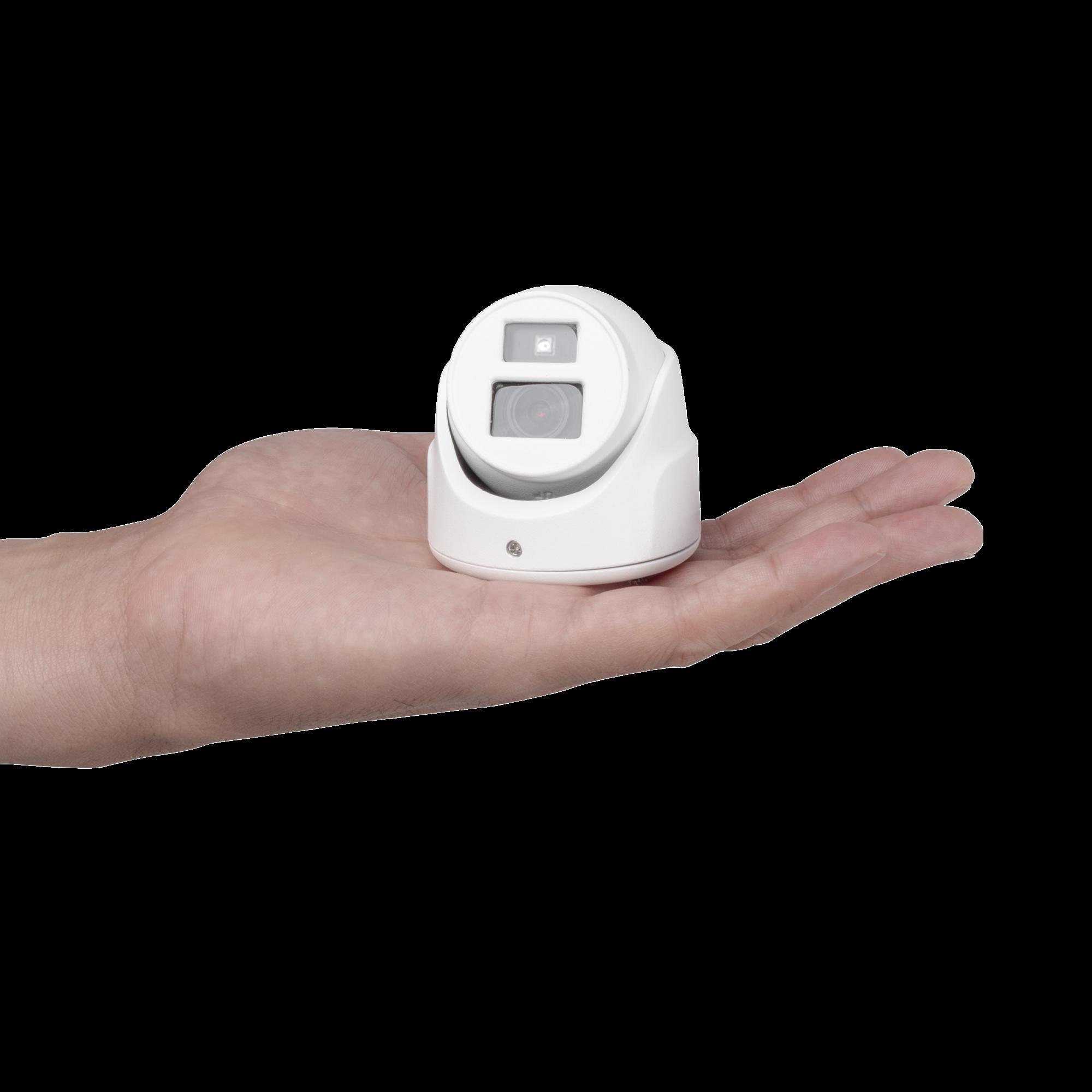 Ultra Mini Turret TURBO 1080p / Gran Angular / Lente 2.8 mm / 20 mts IR EXIR / Exterior IP67 / 4 Tecnologías (TVI / AHD / CVBS) / dWDR