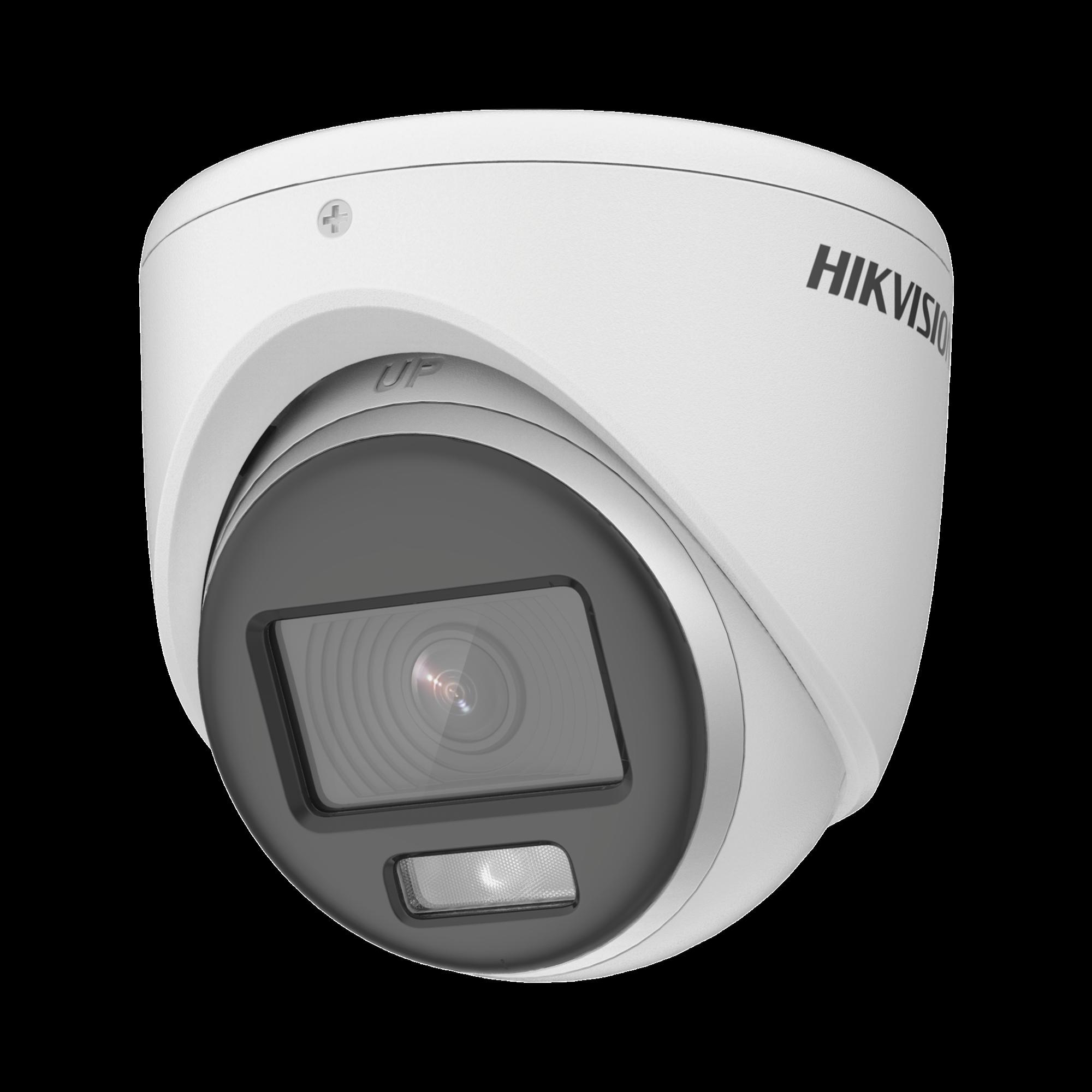 Turret TURBOHD 1080p / Imagen a color 24/7 / Lente 2.8 mm / METAL / Luz Blanca 20 mts / Exterior IP67 / TVI-AHD-CVI-CVBS / dWDR