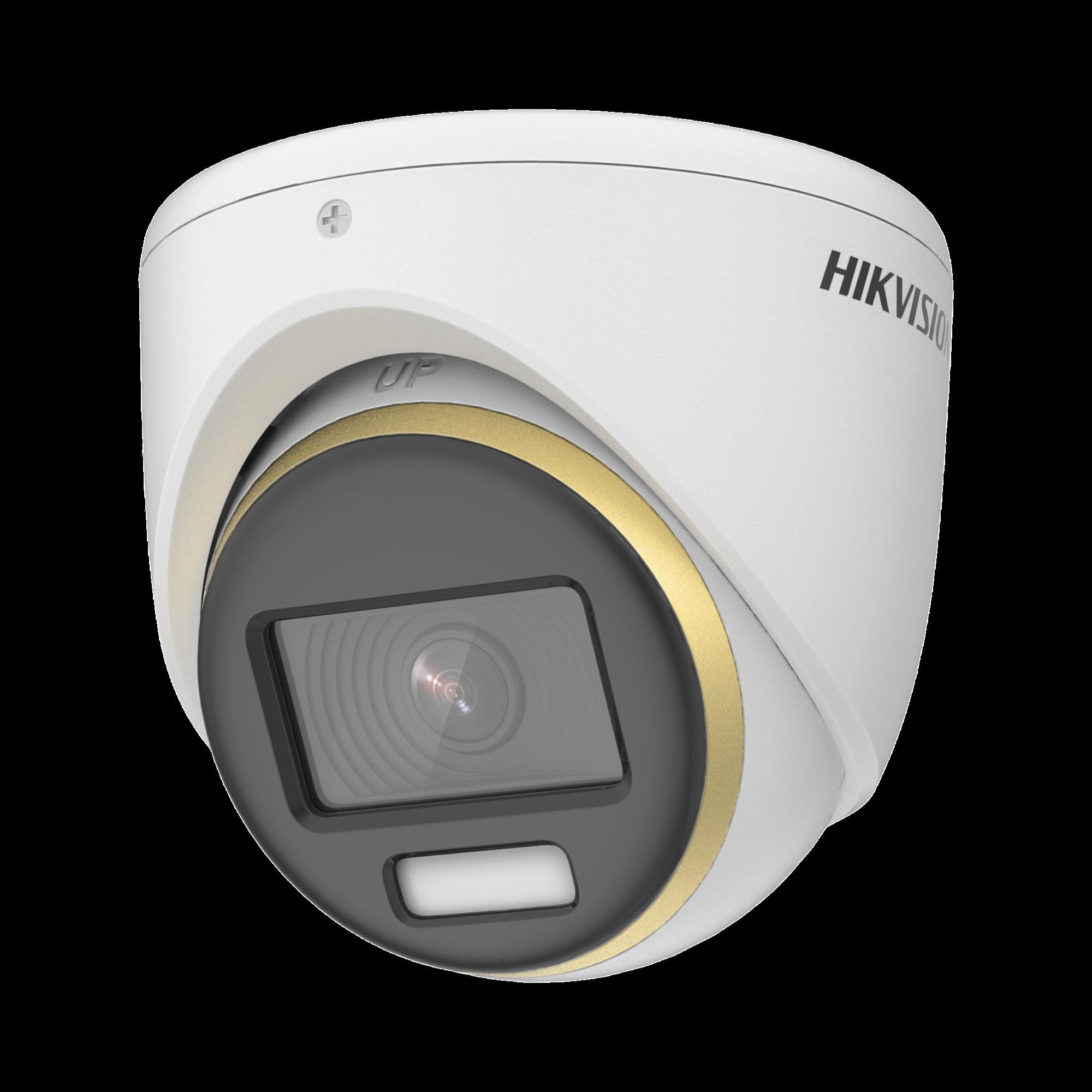 Turret TURBOHD 2 Megapixel (1080p) / Imagen a color 24/7 / Lente 2.8 mm / Luz Blanca 20 mts / Exterior IP67 / WDR 130 dB