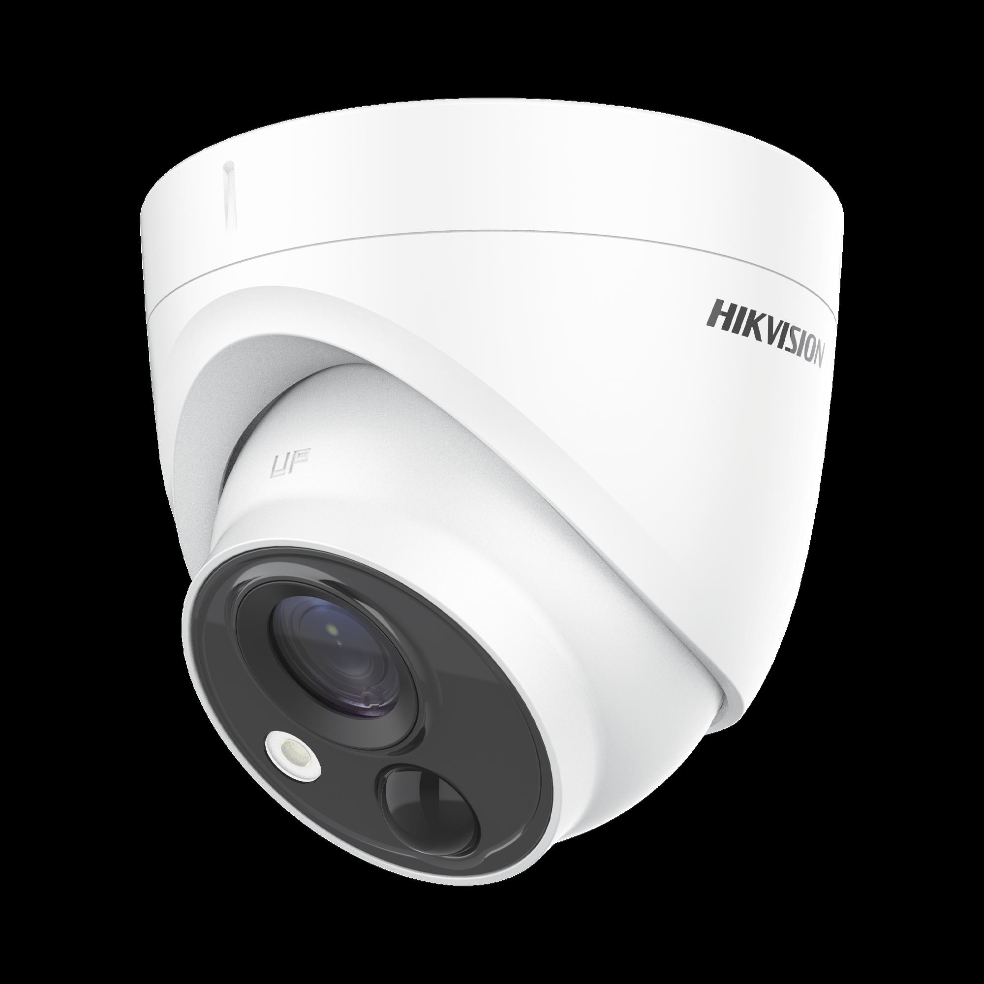 Turret FLASH TURBOHD (LED Blancos Intermitentes) / PIR (EVITA Falsas Alarmas) / 2 Megapixel (1080p) / 20 mts IR EXIR / Lente 2.8 mm / IP67 / Salida de Alarma