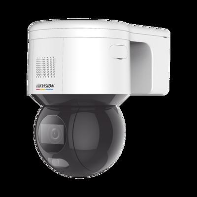 PT IP 4 Megapixel / Imagen a Color 24/7 / Lente 4 mm / Luz Blanca 30 mts / Exterior IP66 / ACUSENSE (Evita Falsas Alarmas) / PoE+ / Micrófono y Bocina Integrada / WDR 120 dB