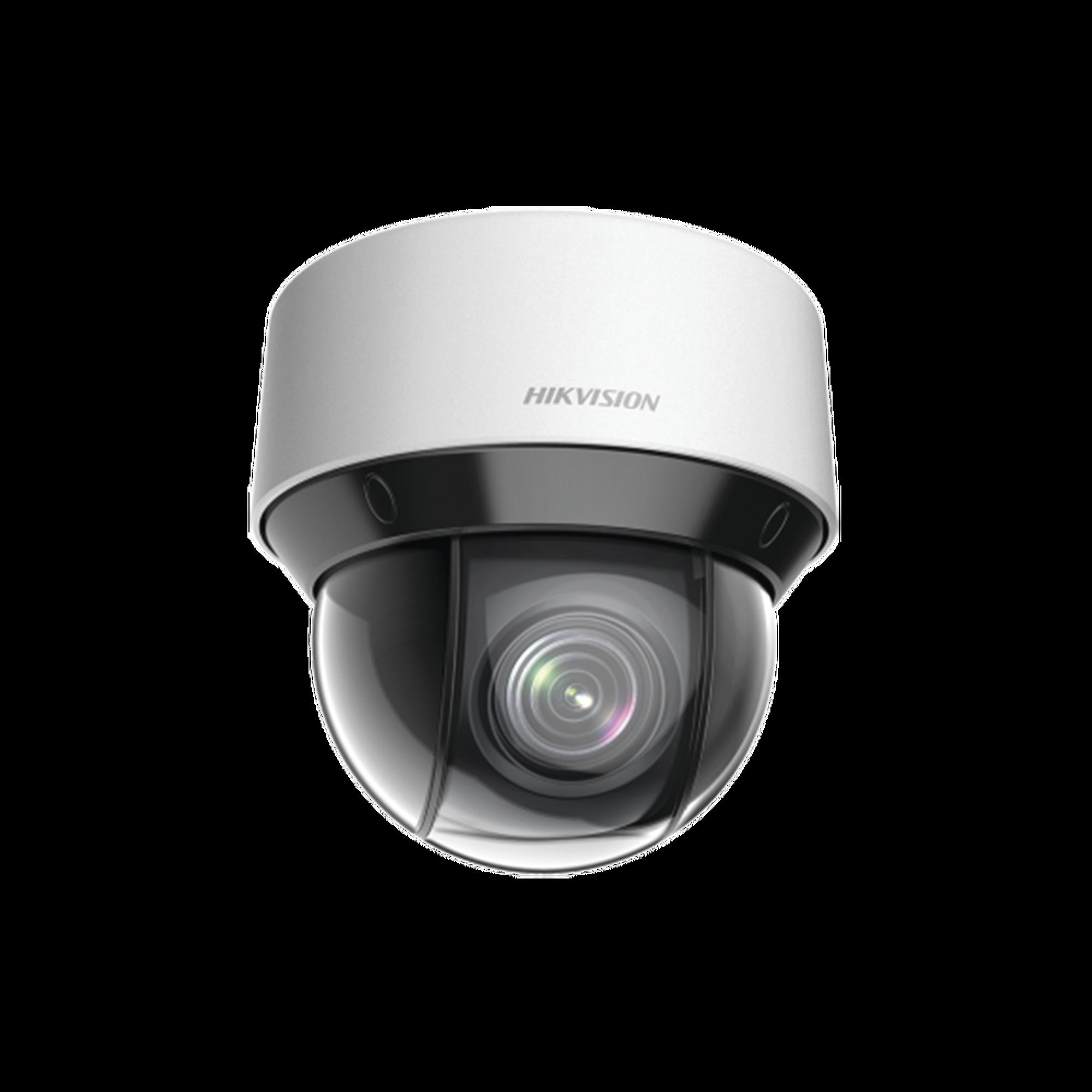 Mini Domo IP PTZ 2 Megapixel / 15X Zoom / 50 mts Luz Infrarroja Inteligente (Visión Nocturna) / Autoseguimiento / WDR 120 dB / PoE+ / IP66 / Ultra Baja Iluminación