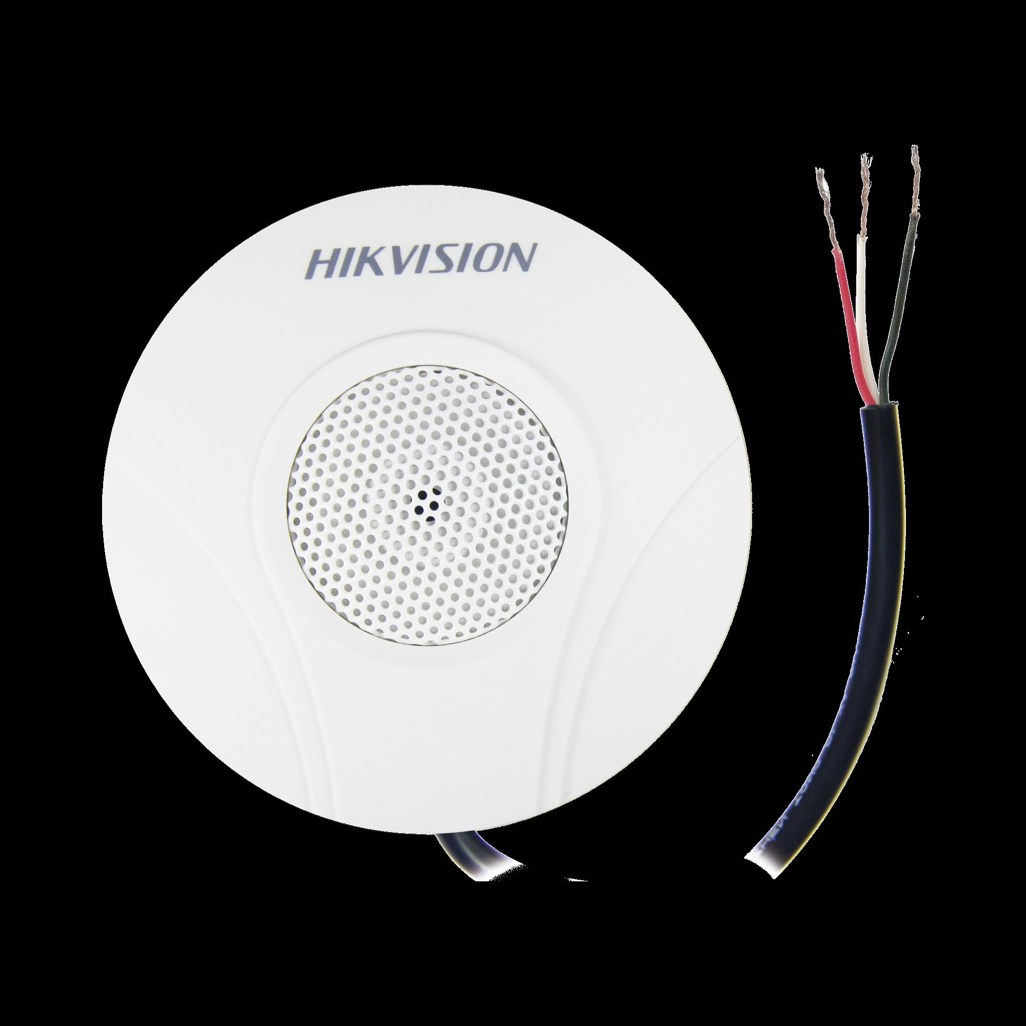 Micrófono Omnidireccional / Uso en Interior / Preamplificado para CCTV / Cancelación de Ruido Ambiental