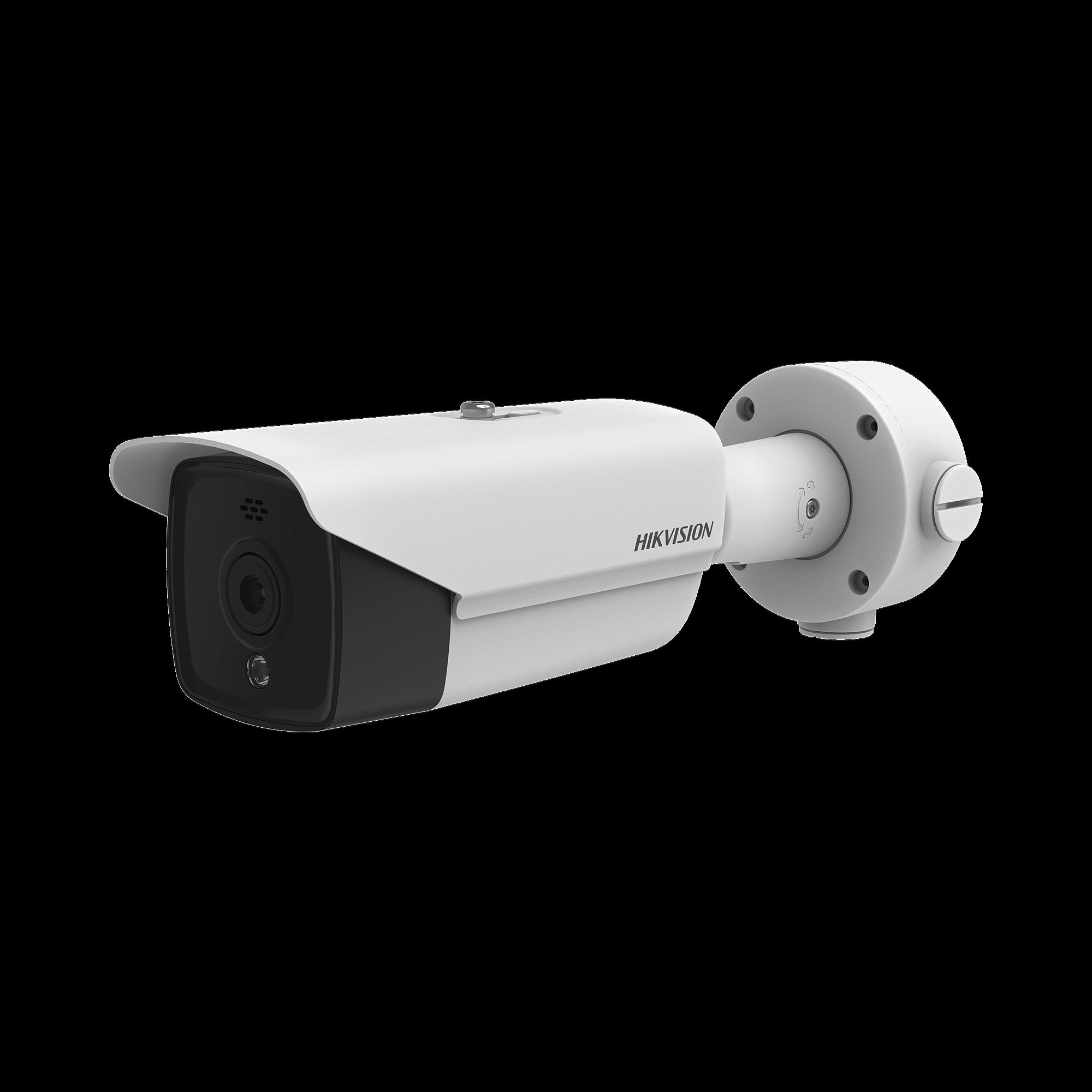 Bala IP Termica 320 X 240 / Lente 3.1 mm / Termometrica / Deteccion de Temperatura / PoE / IP66 / Sirena y Luz Intermitente Integrada
