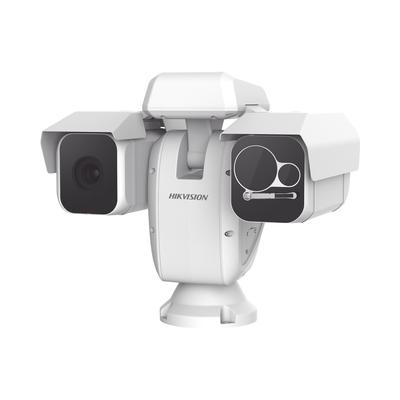 Punta de Poste IP Dual / Térmica 50 mm (384 X 288) + Óptico 36X / 500 mts IR / IP66 / Detección de Temperatura