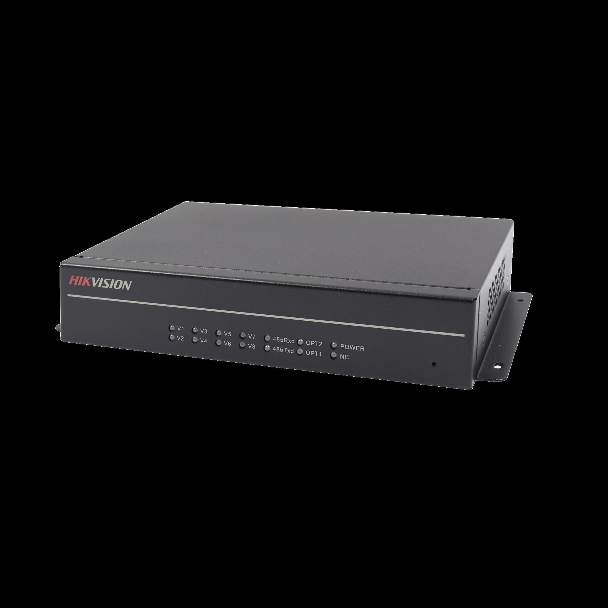 Receiver de 4 ch HD-TVI por fibra óptica interfaz FC