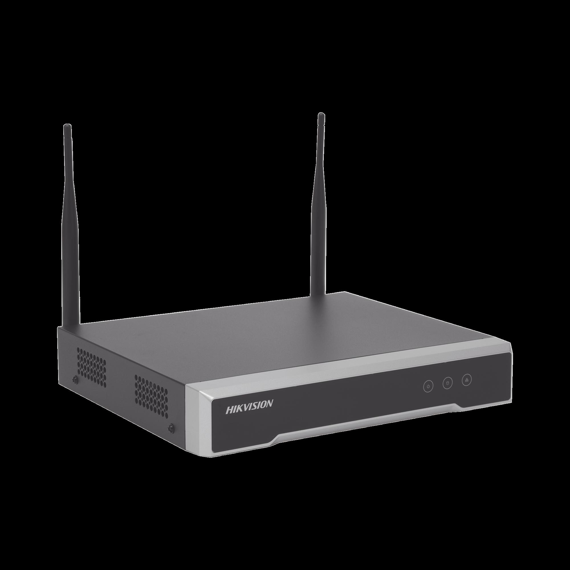 NVR 4 Megapixel / 4 canales IP / 1 Bahía de Disco Duro / 2 Antenas Wi-Fi / Salida de Vídeo Full HD