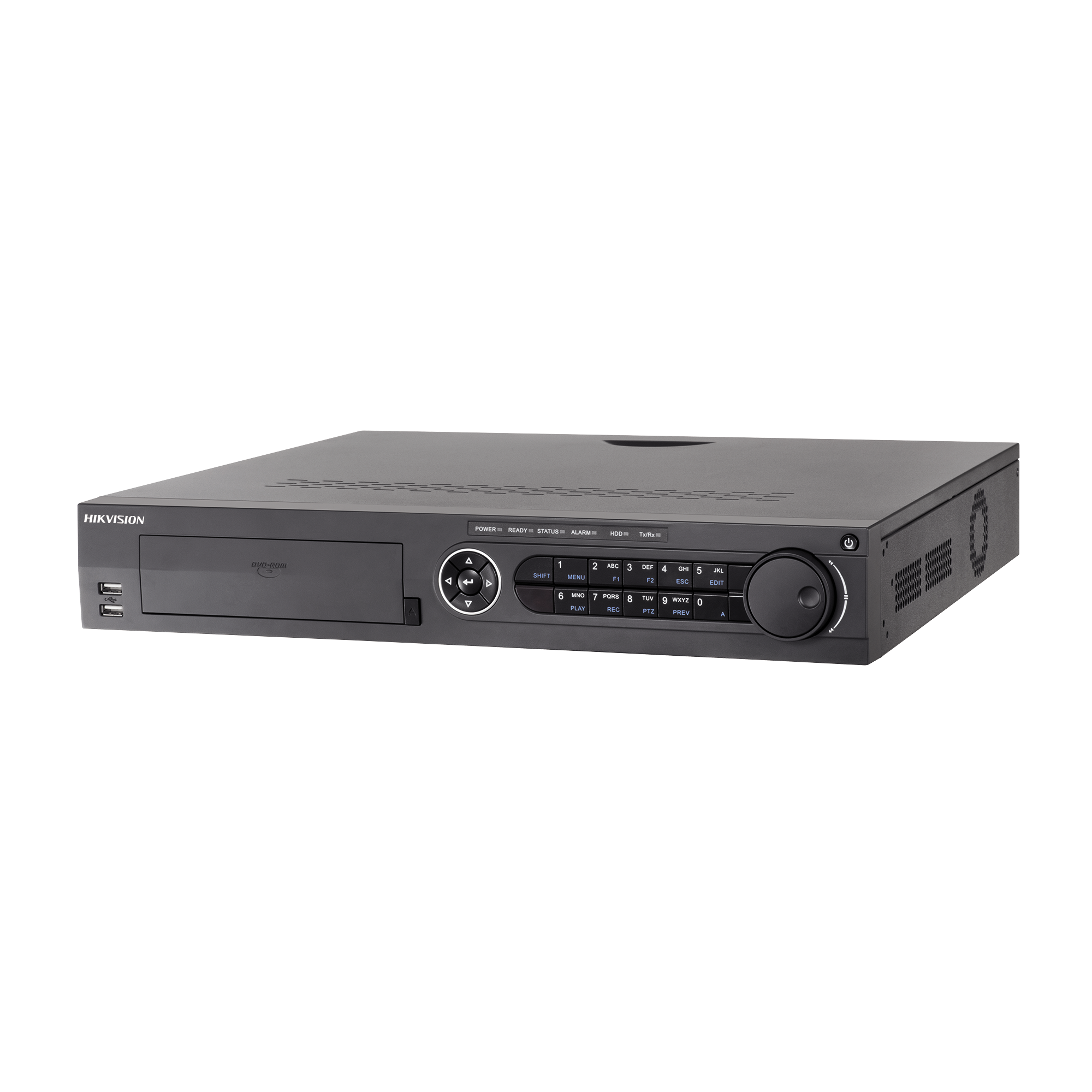 DVR 4 Megapixel / 32 Canales TURBOHD + 16 Canales IP / 4 Bahías de Disco Duro / 4 Canales de Audio / Videoanalisis / 16 Entradas de Alarma