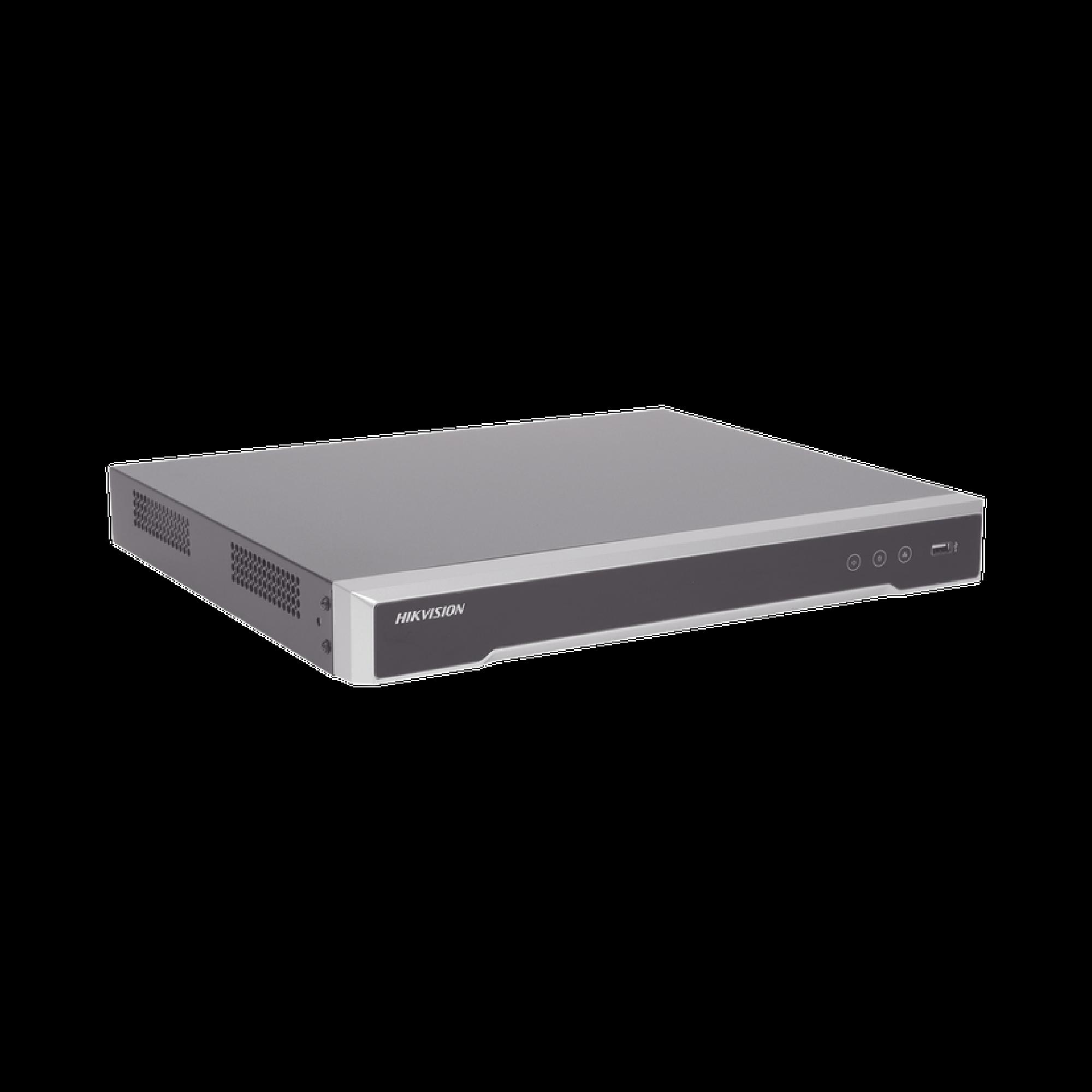 NVR 12 Megapixel (4K) / 8 canales IP / 8 Puertos PoE+ / 2 Bahias de Disco Duro / Switch PoE 300 mts / HDMI en 4K / Soporta POS