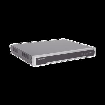 NVR 12 Megapixel (4K) / 8 canales IP / 8 Puertos PoE+ / 2 Bahías de Disco Duro / Switch PoE 300 mts / HDMI en 4K / Soporta POS / ACUSENSE (Evita Falsas Alarmas)