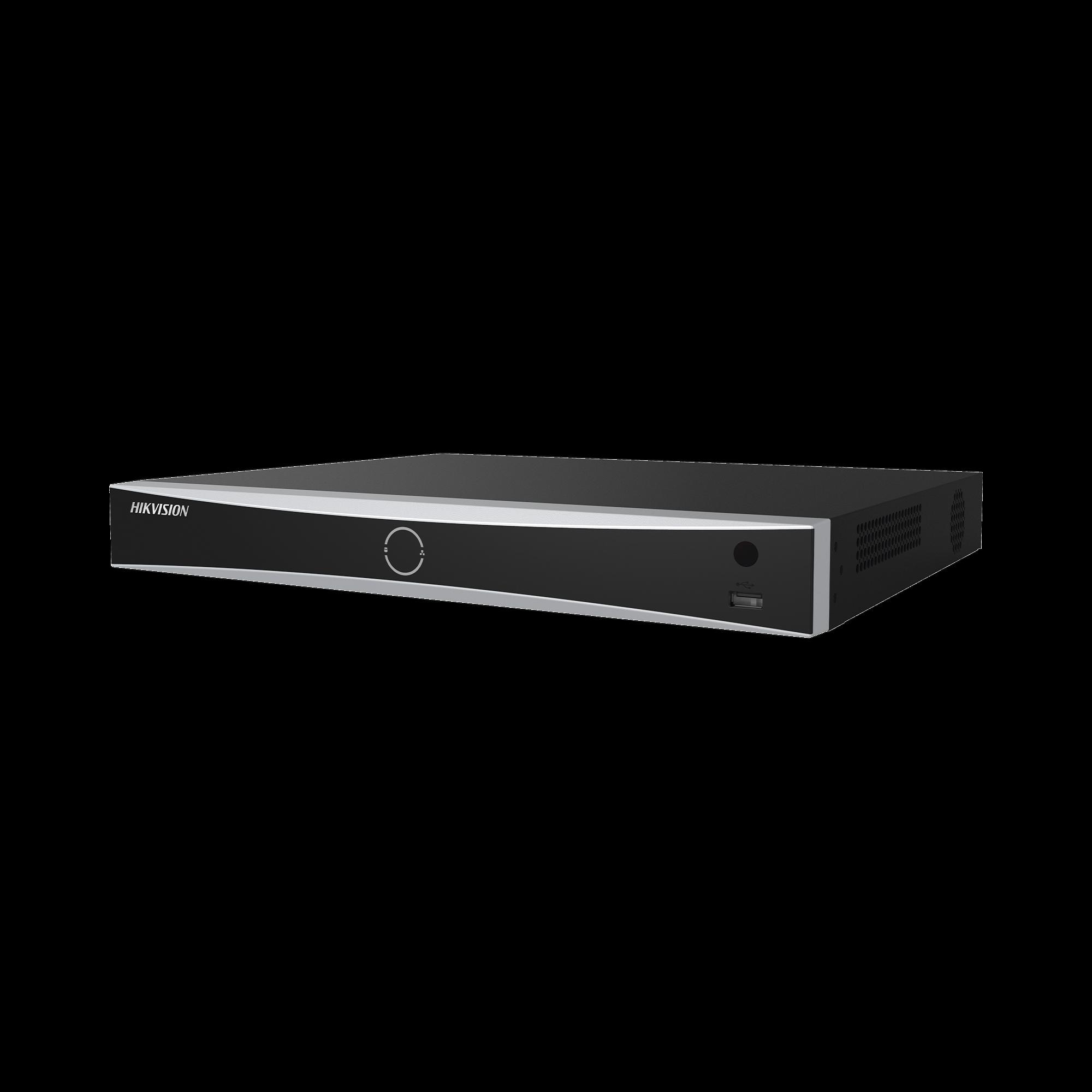 (ACUSENSE / Evita Falsas Alarmas) NVR 12 Megapixel (4K) / Reconocimiento Facial / 8 Canales IP / Base de Datos / 8 Puertos PoE+ / 2 Bahías de Disco Duro
