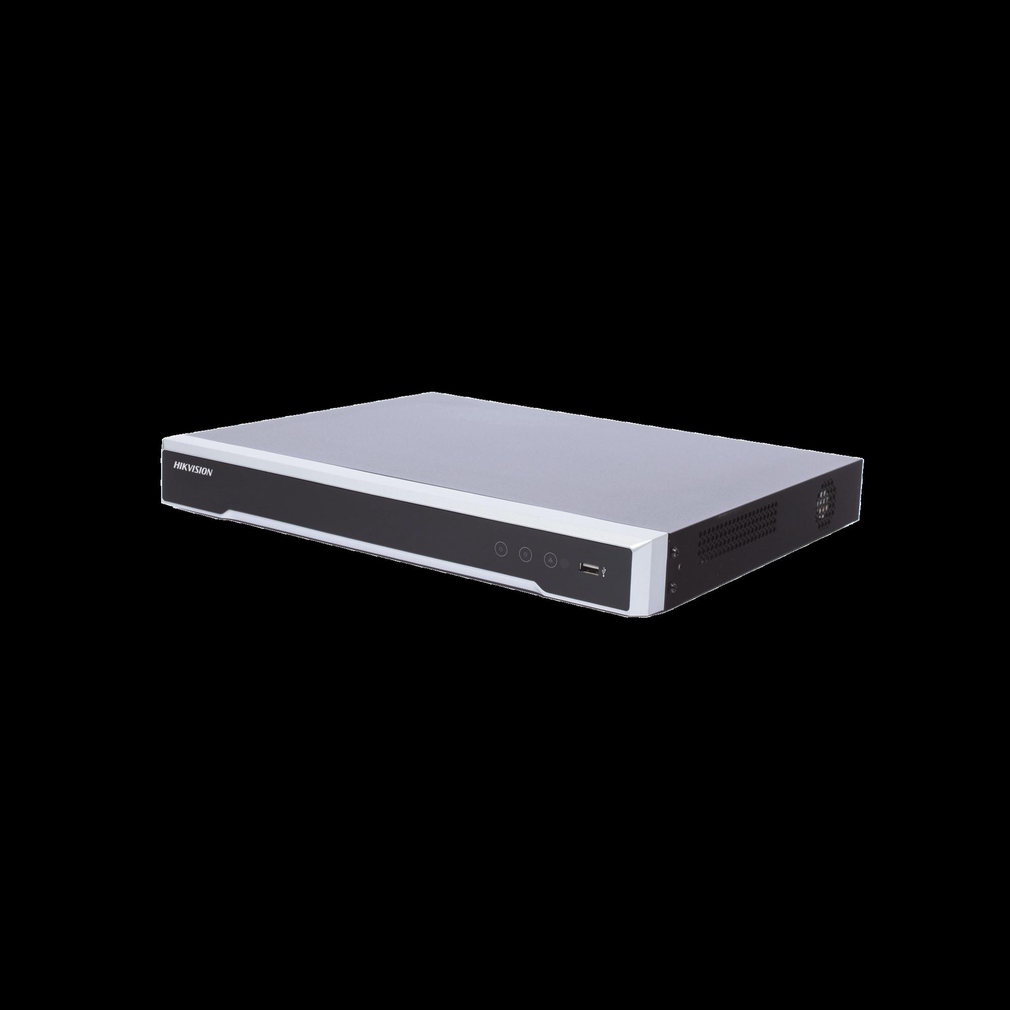 NVR 8 Megapixel (4K) / 16 canales IP / 2 Bahias de Disco Duro / HDMI en 4K