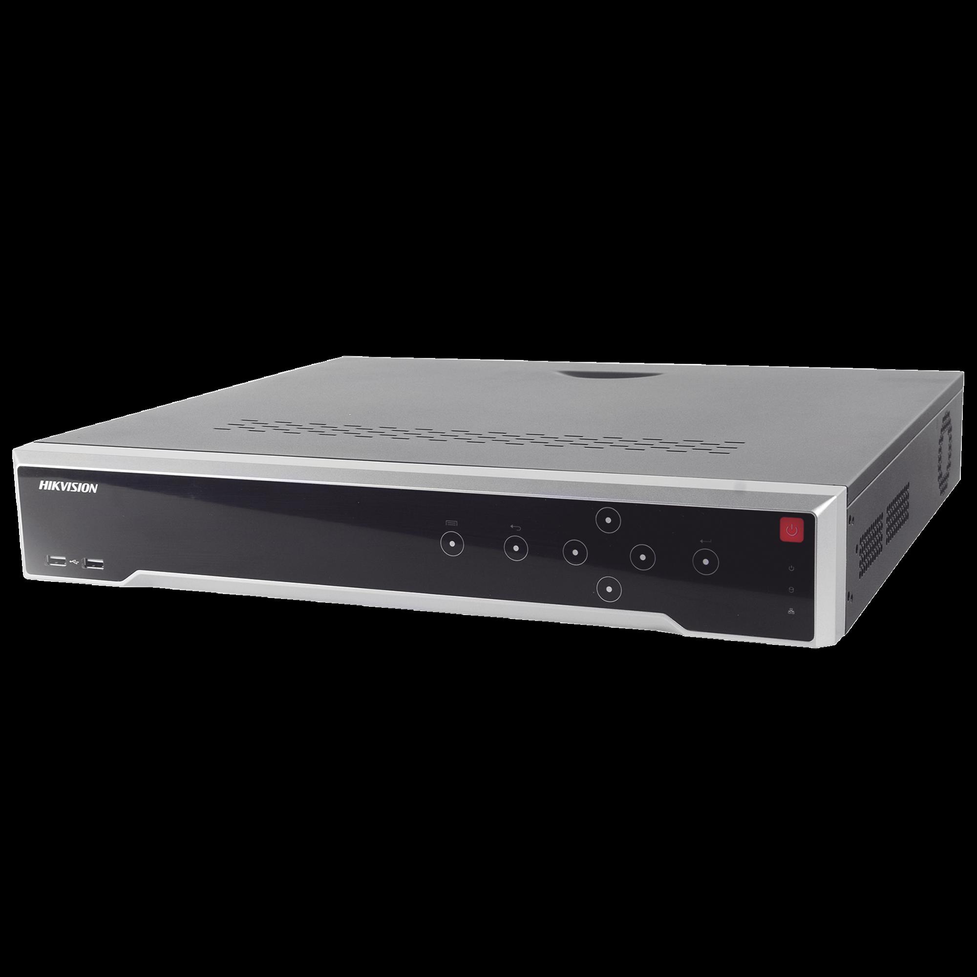 NVR 12 Megapixel (4K) / 16 canales IP / 16 Puertos PoE+ / 4 Bahías de Disco Duro / Switch PoE 300 mts / HDMI en 4K / Soporta POS