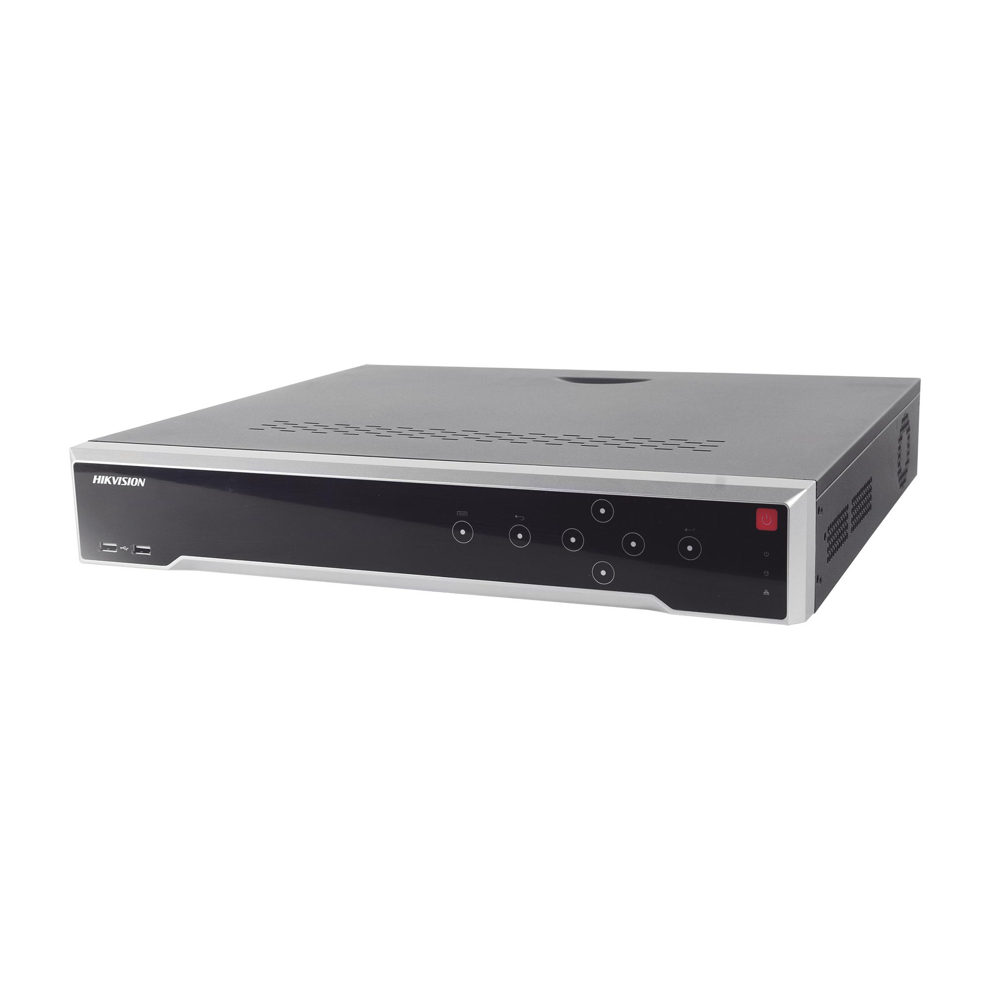 NVR 8 Megapixel (4K) / 16 canales IP /16 Puertos PoE+ / 4 Bahías de Disco Duro / Switch PoE 300 mts / HDMI en 4K