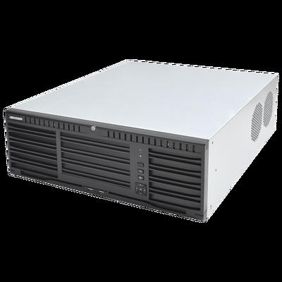 NVR 12 Megapixel (4K) / 128 canales IP / 16 Bahias de Disco Duro / 4 Puertos de Red / Soporta RAID con Hot Swap / NVR de Alto Desempeño
