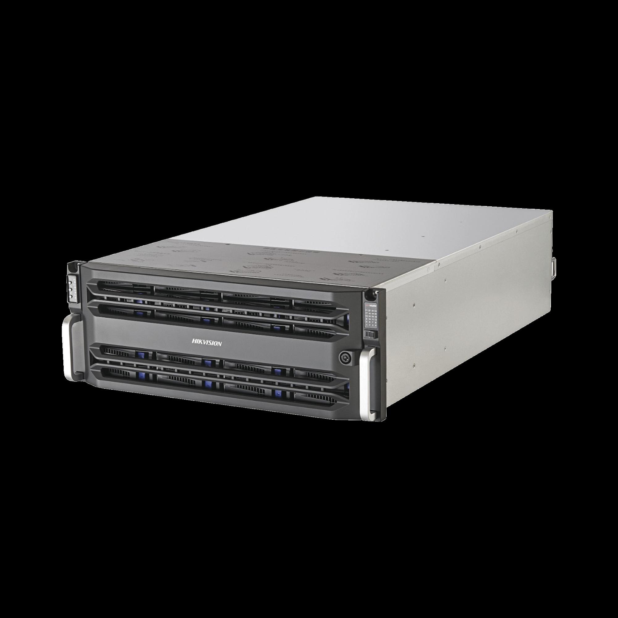 Almacenamiento en Red / 16 Discos Duros / RAID / iSCSI / NFS / Graba 320 Canales IP / 2 Tarjetas Red / Simple Controlador