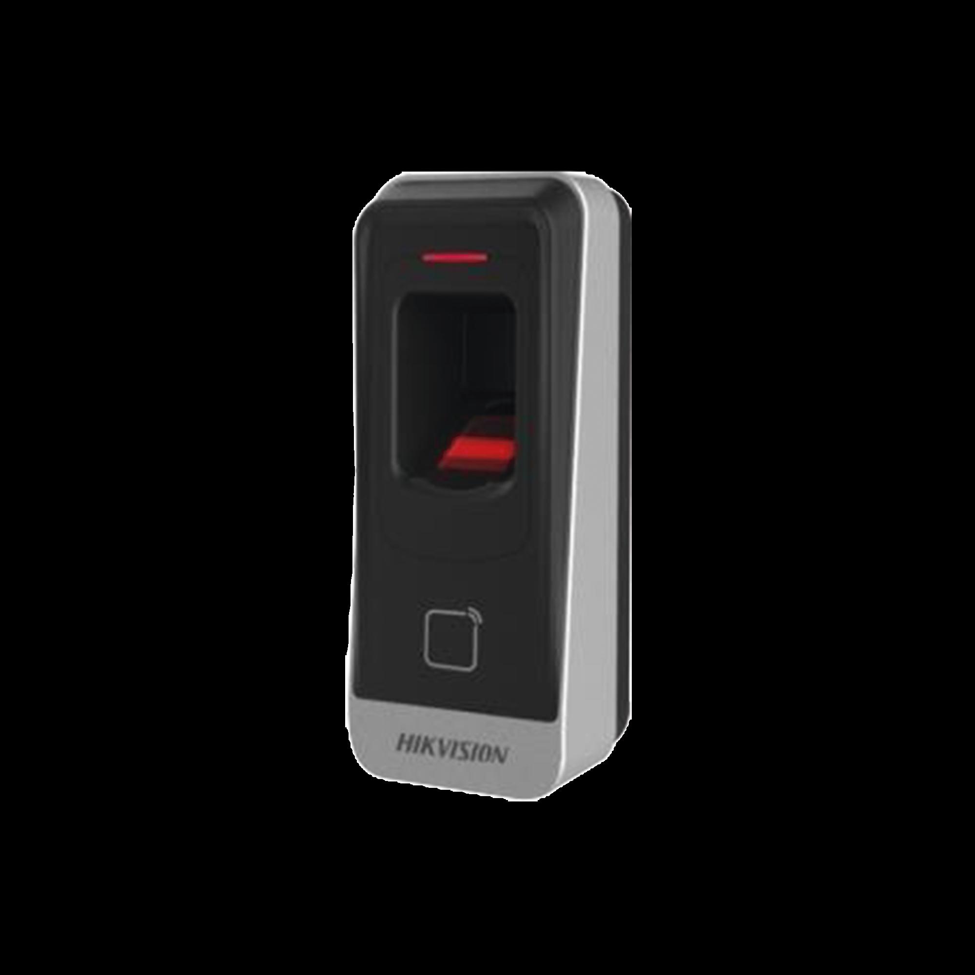 Lector esclavo PROX EM IP65 / Huella Digital / Lector de Tarjetas de Proximidad / RS-485 / Interior y Exterior / Requiere Panel de Control de Acceso DS-K2604,02,01