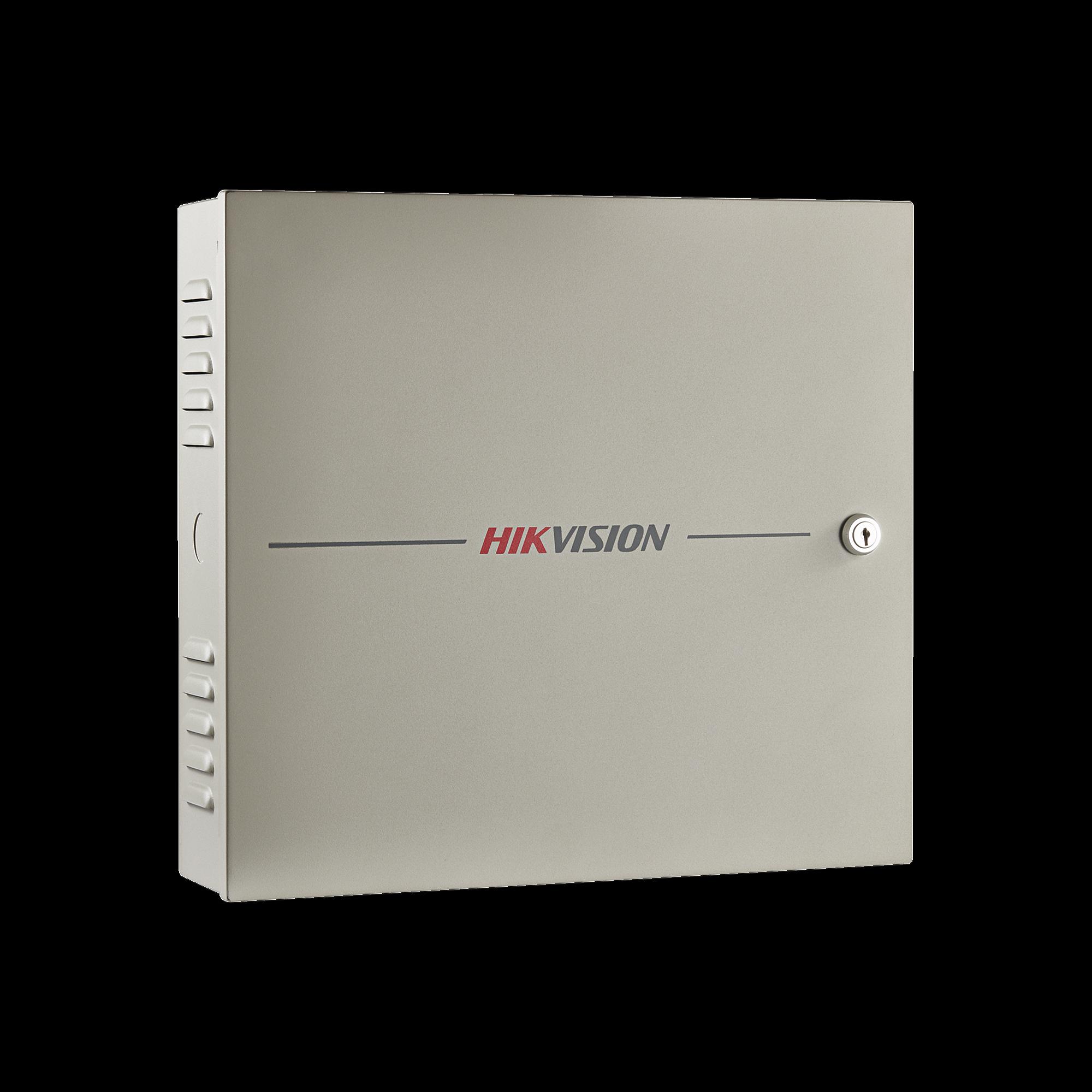 Controlador de Acceso 1 Puerta / 2 Lectores de Huella o tarjeta / Integración con cámaras / 100,000 Tarjetas / Incluye Gabinete y Fuente de Alimentación 12VCD/8A / Software GRATUITO