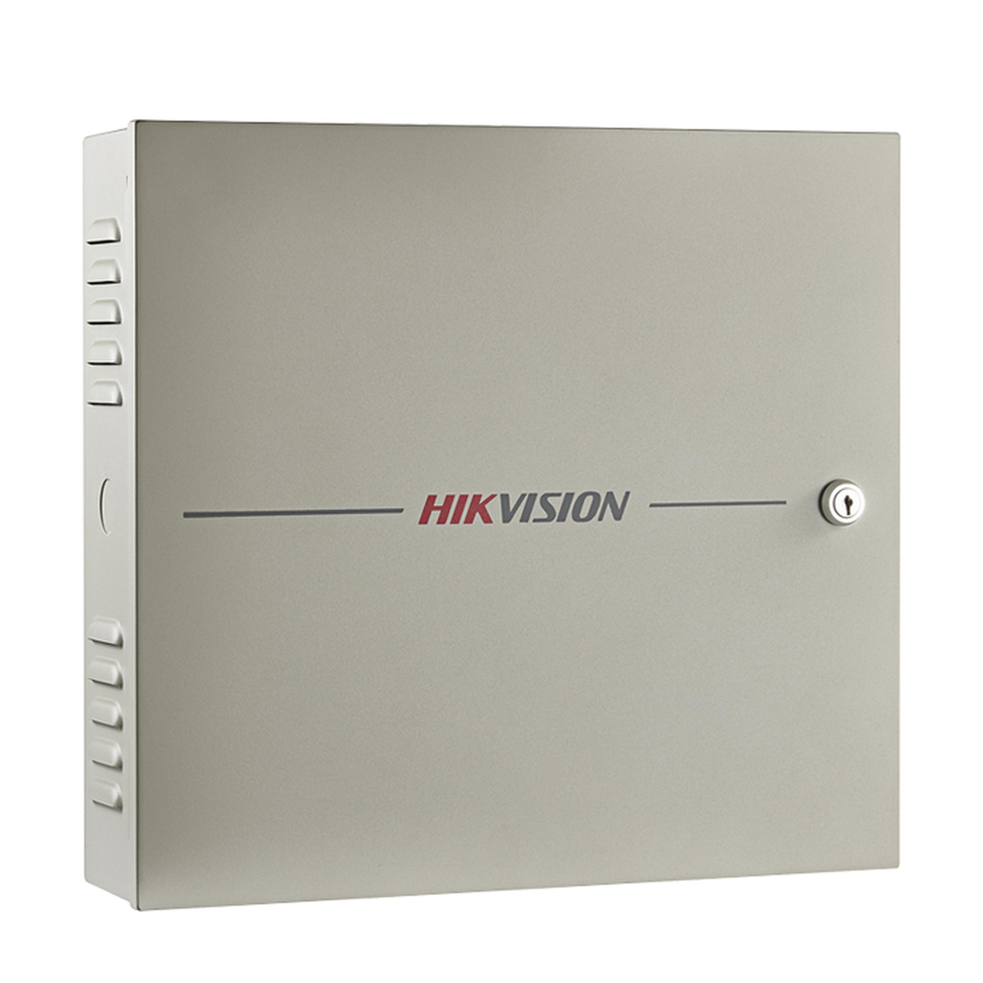 Controlador de Acceso / 4 Puerta / 8 Lectores Huella y Tarjeta / Integración con Video / 100,000 Tarjetas / Incluye Gabinete y Fuente de Alimentación 12VCD/8A / Soporta batería de respaldo