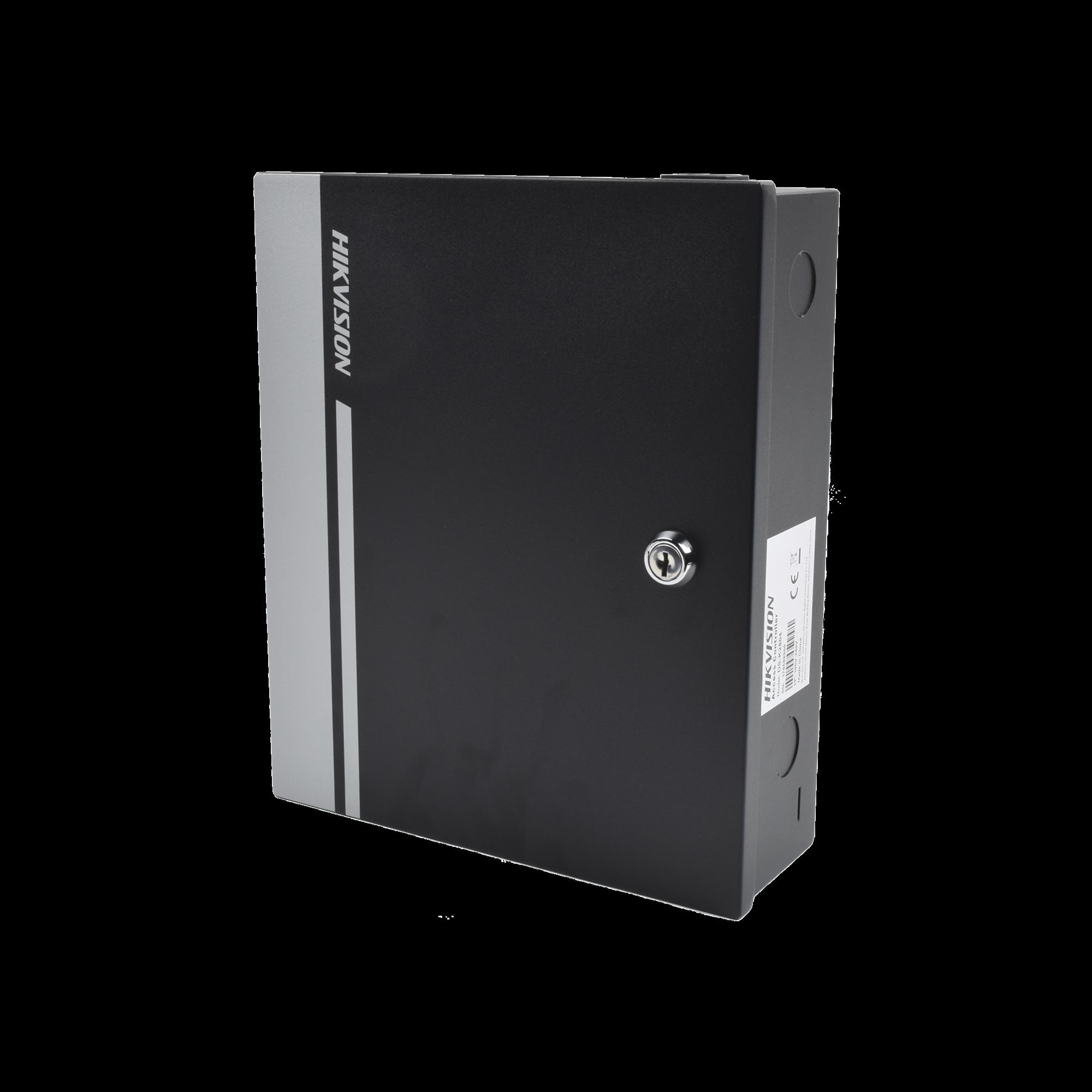 Controlador de Acceso Integrable con Videovigilancia / 2 Puertas / 10,000 Tarjetas / 50,000 Eventos / Incluye Gabinete y Fuente de Alimentacion 12VCD/8A
