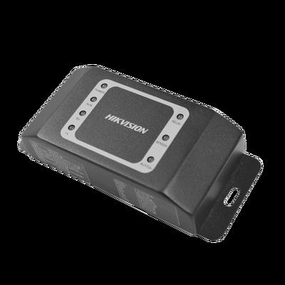 Módulo esclavo para instalaciones SEGURAS en Controles de Acceso Hikvision / Compatible con Biometricos Faciales Min Moe / Conexión RS-485  /  Soporta botón de salida y chapa.