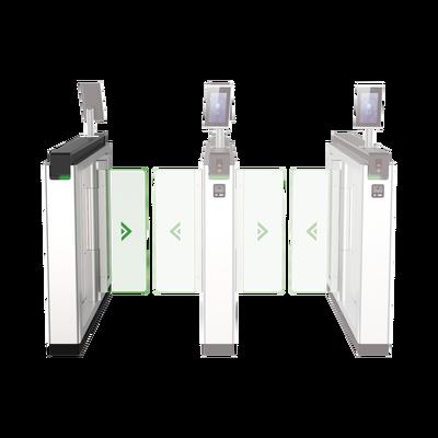 Torniquete de Apertura para Lado Izquierdo / Metal / Con 12 Pares de Detectores IR / Soporta Terminal de Reconocimiento Facial