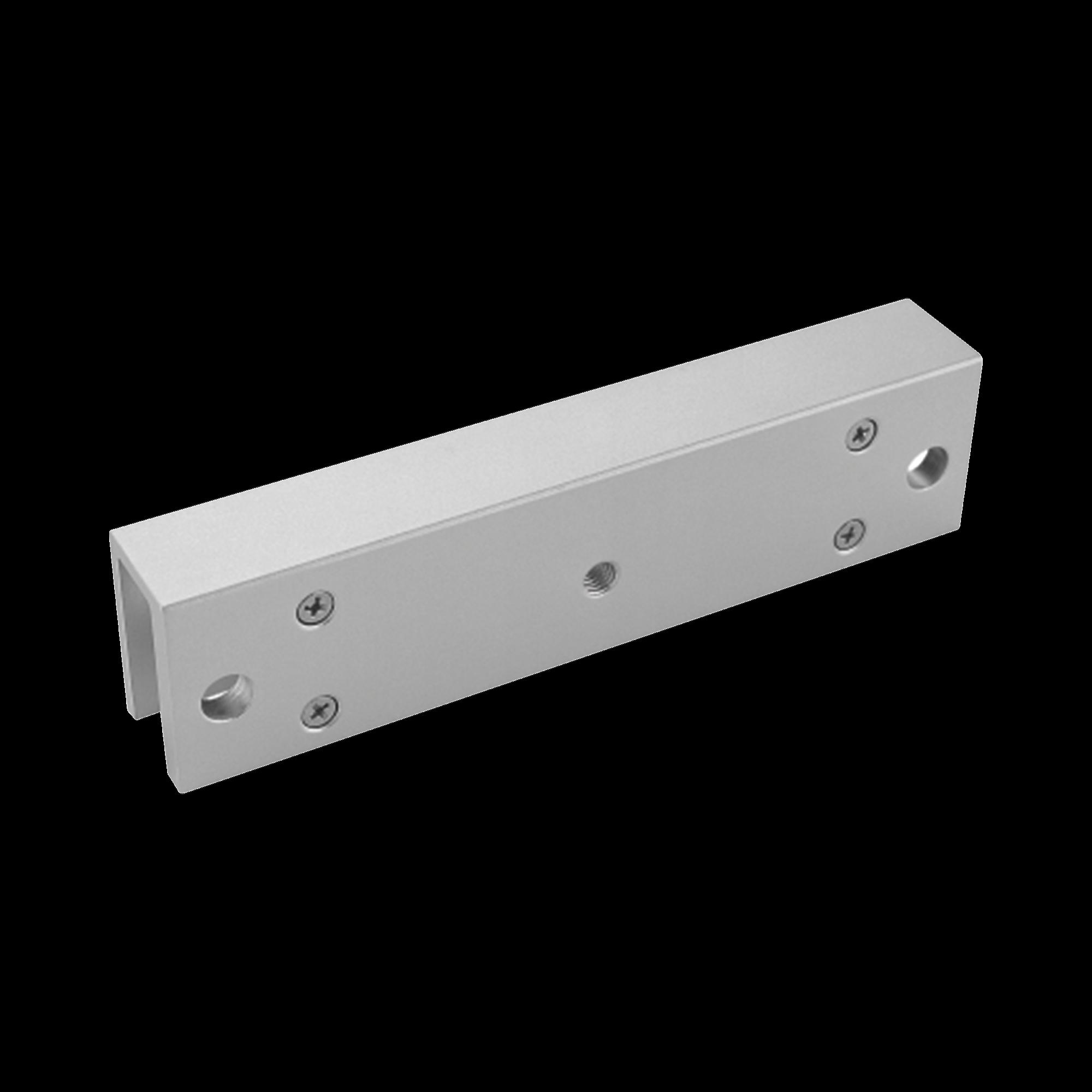 Montaje en U para Instalación de Chapa Magnética DS-K4H258S en Puerta de Cristal (Vidrio)