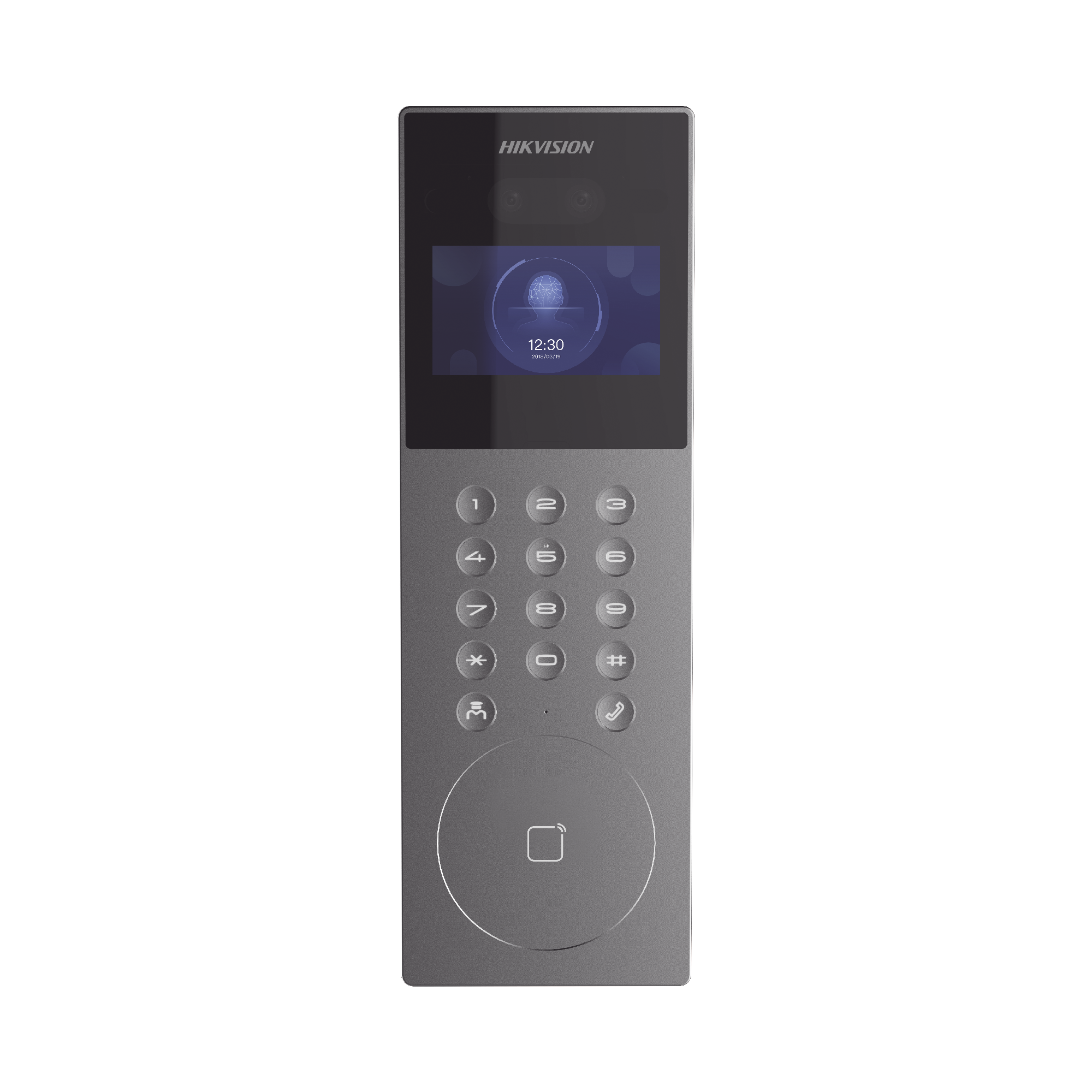 Videoportero IP Multiapartamento con Reconocimiento Facial / Llamada a App HikConnect  / Protección IP65 / Apertura por Rostro, Tarjeta o App